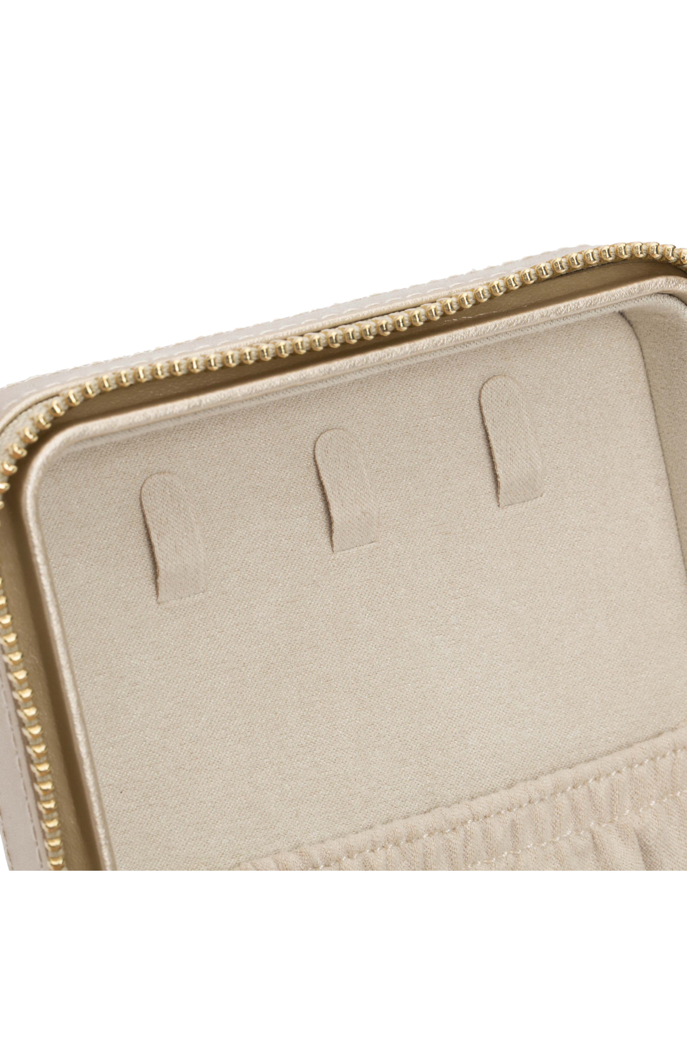 WOLF, 'Caroline' Travel Jewelry Case, Alternate thumbnail 8, color, CHAMPAGNE