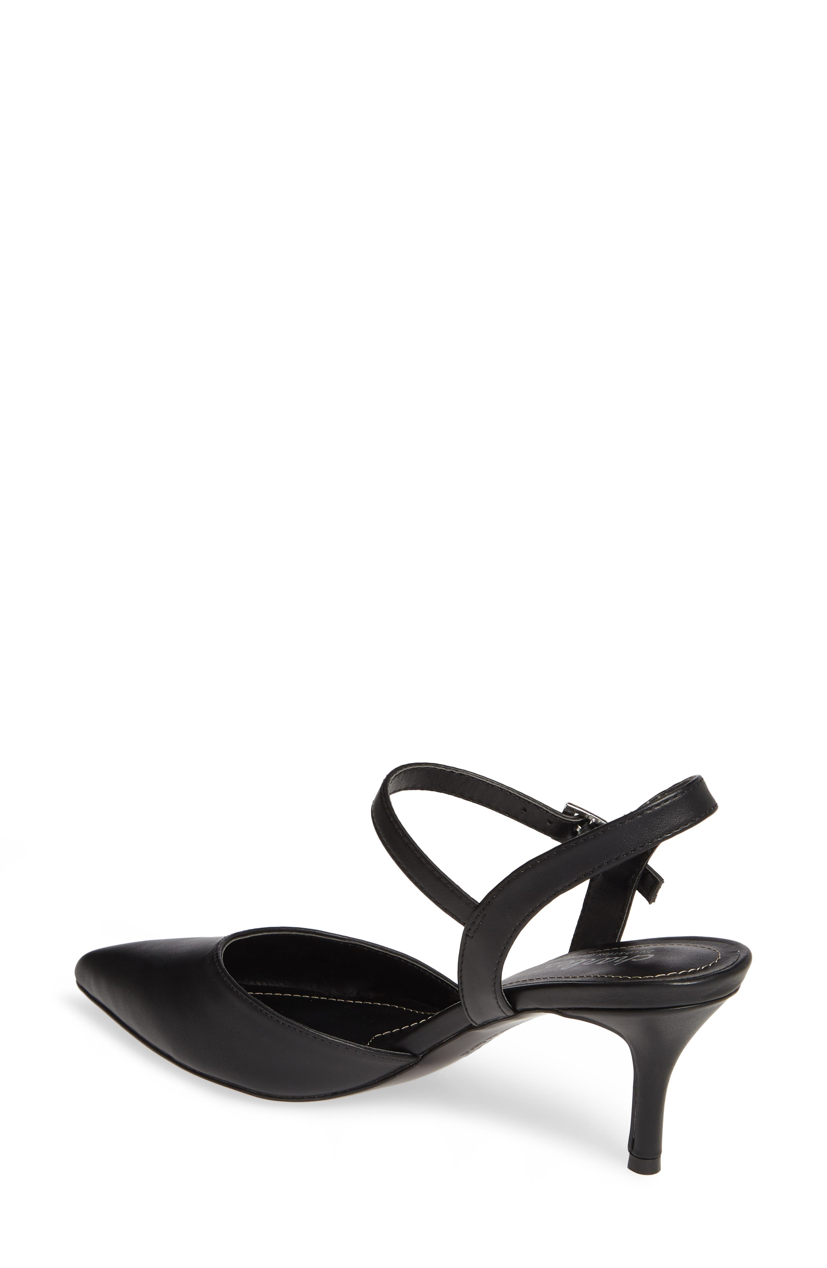 CHARLES BY CHARLES DAVID, Ankle Strap Pump, Alternate thumbnail 2, color, BLACK FAUX LEATHER