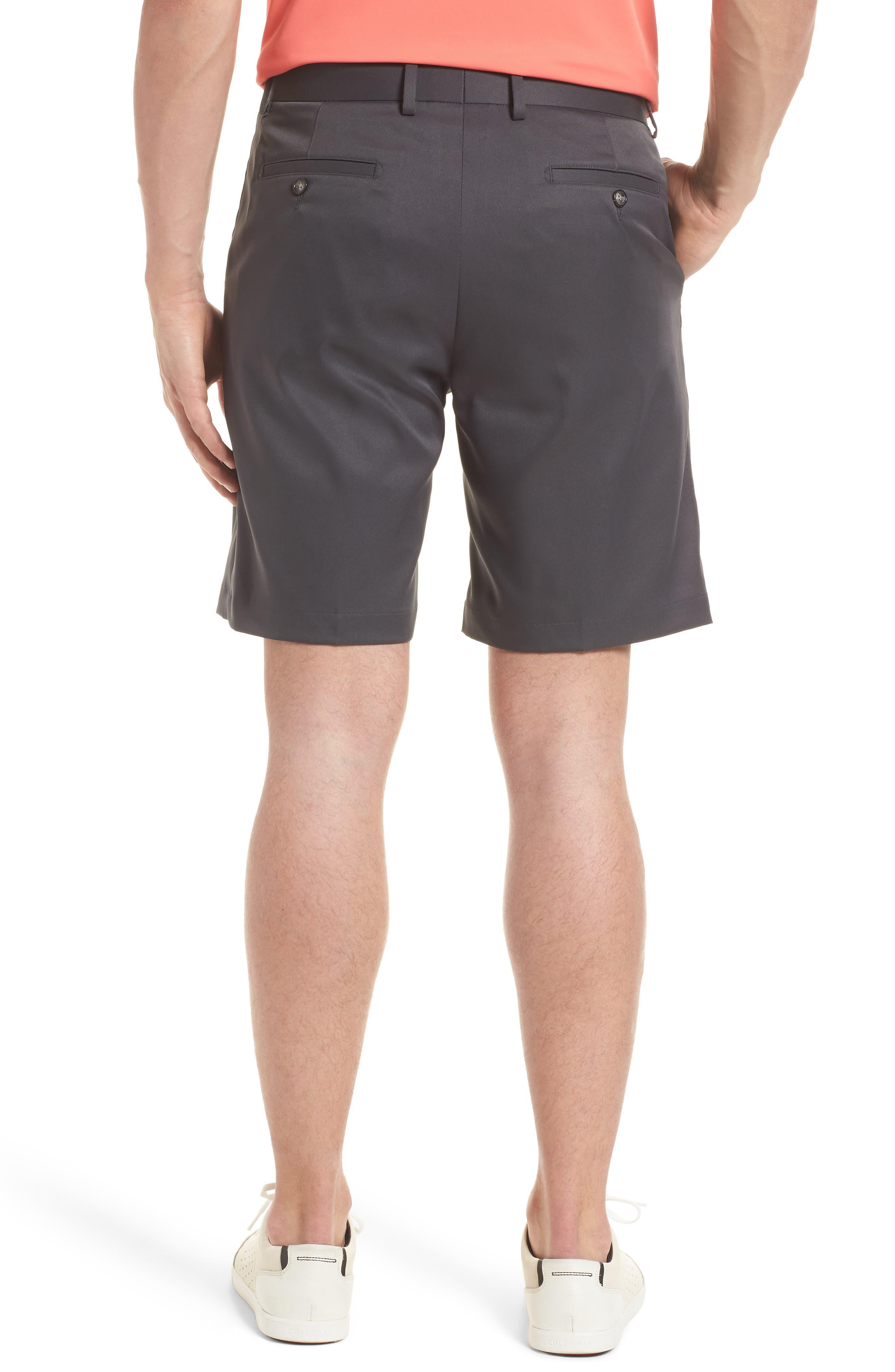 BOBBY JONES, Flat Front Tech Shorts, Alternate thumbnail 2, color, CHARCOAL