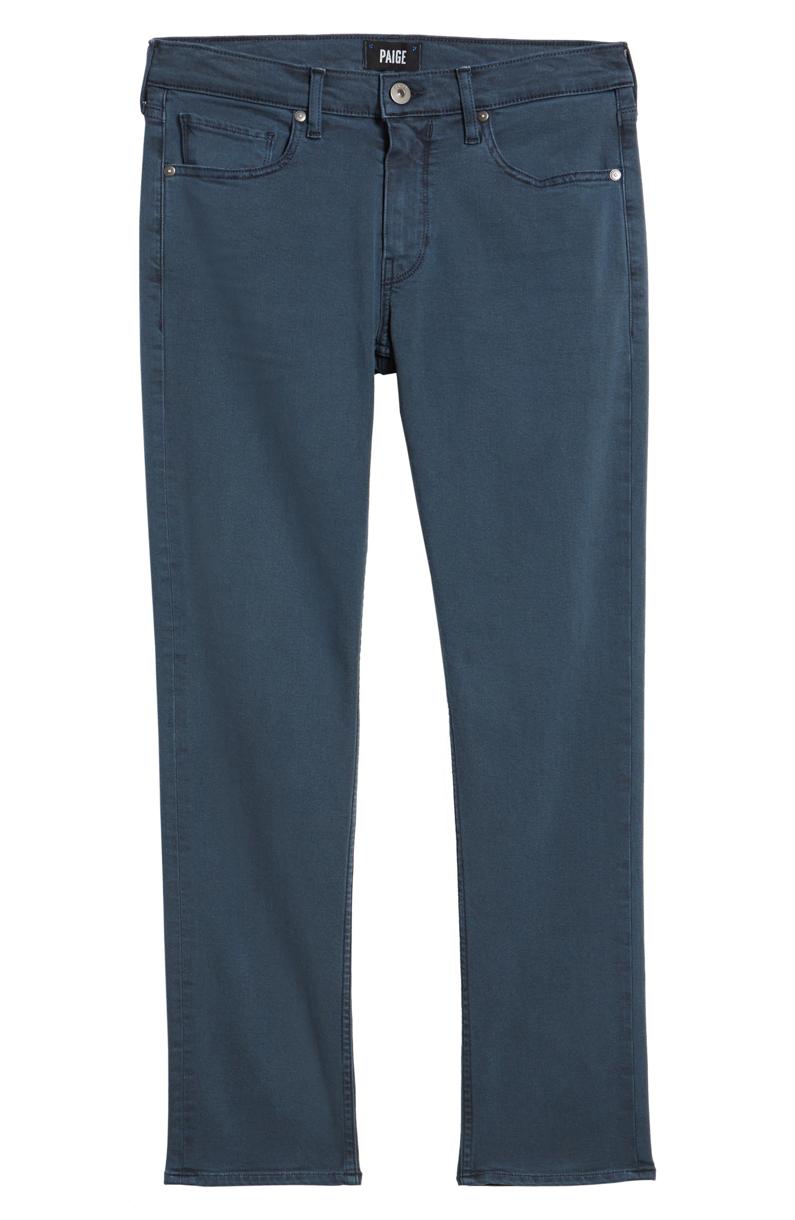 PAIGE, Lennox Slim Fit Jeans, Alternate thumbnail 6, color, 400