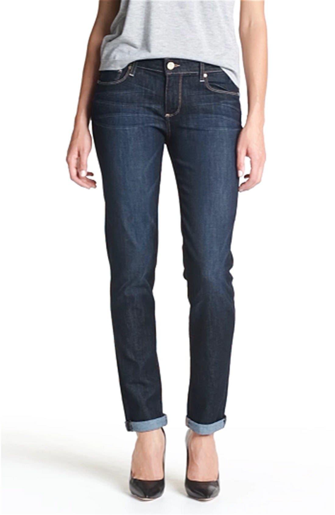 PAIGE, Denim 'Jimmy Jimmy' Stretch Jeans, Alternate thumbnail 3, color, 410