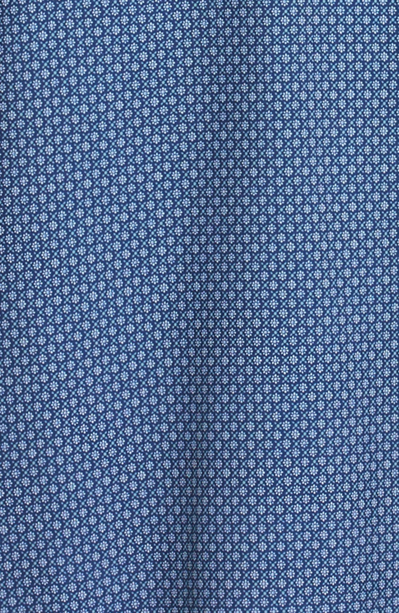 MIZZEN+MAIN, Atlantic Daisy Performance Sport Shirt, Alternate thumbnail 6, color, NAVY