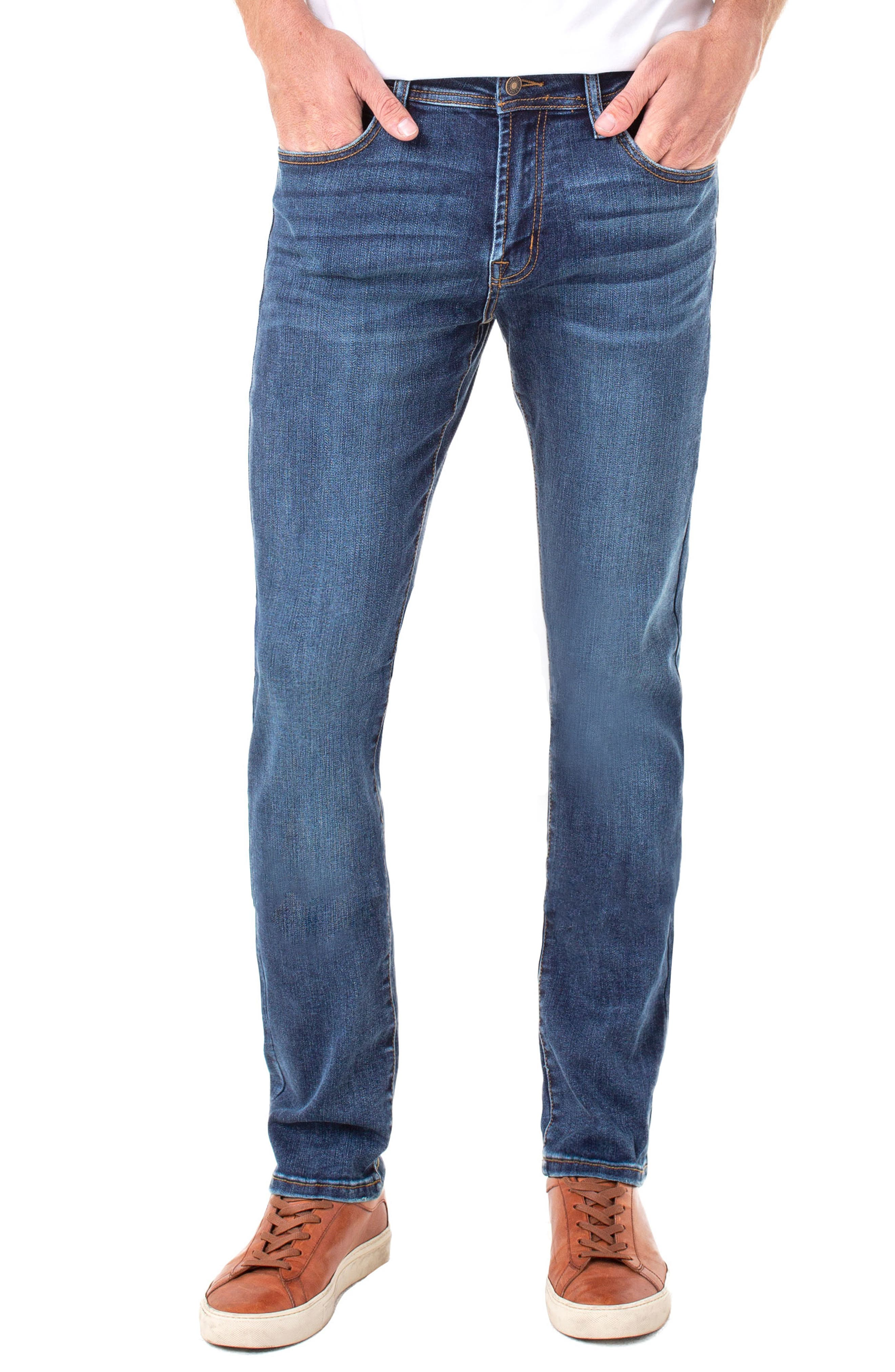 LIVERPOOL Regent Relaxed Straight Leg Jeans, Main, color, ADVENT