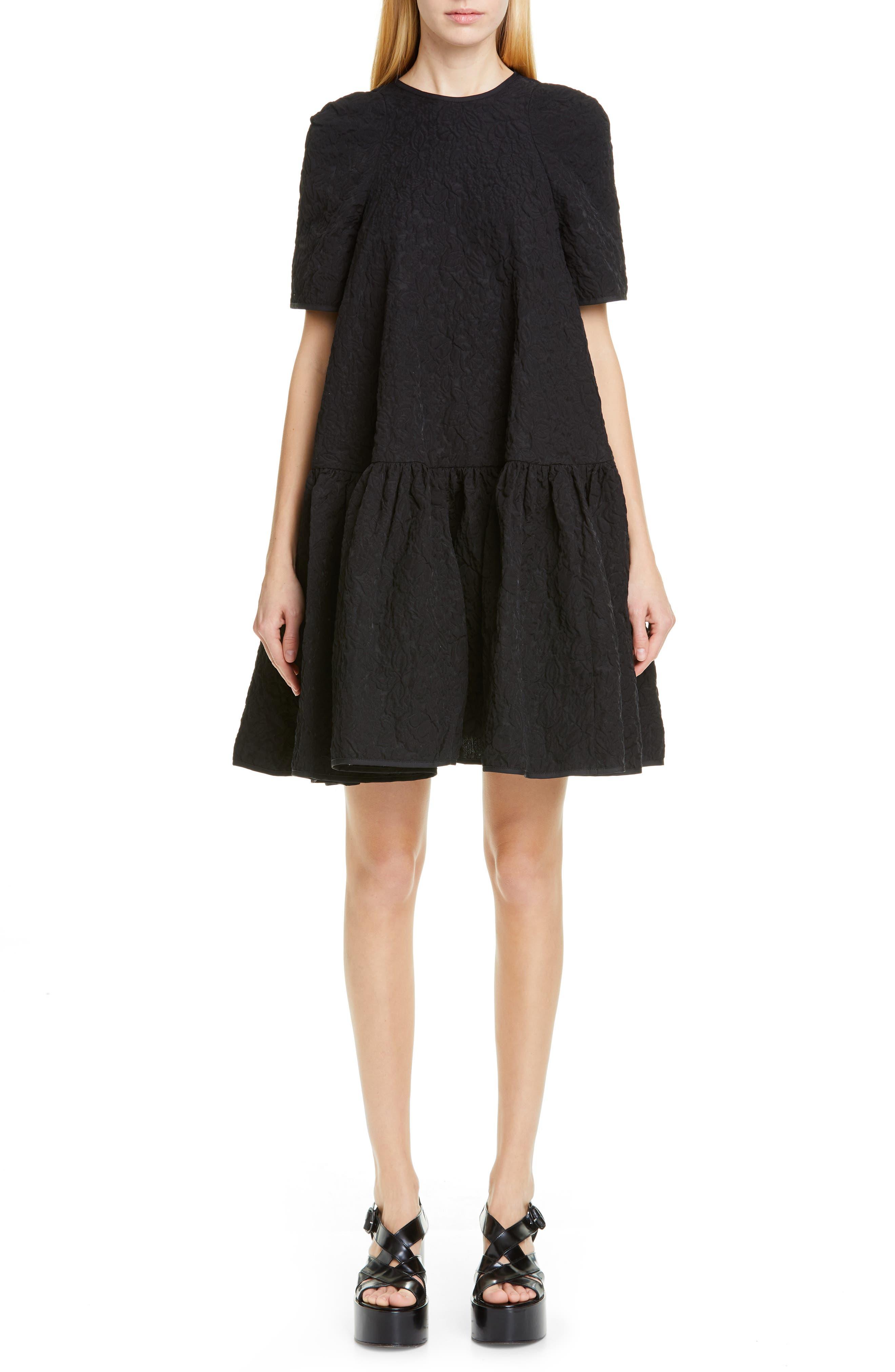 Cecilie Bahnsen Annabella Floral Matelasse Dress, US / 10 UK - Black