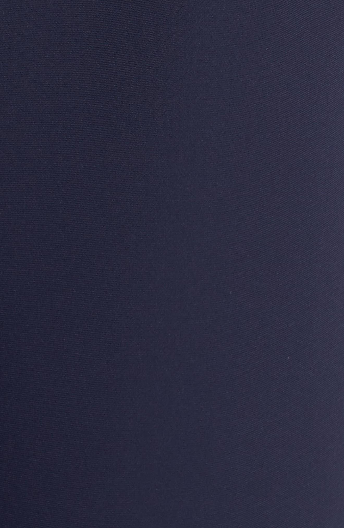 VINCE CAMUTO, Ruffle Wide Leg Crop Jumpsuit, Alternate thumbnail 6, color, NAVY