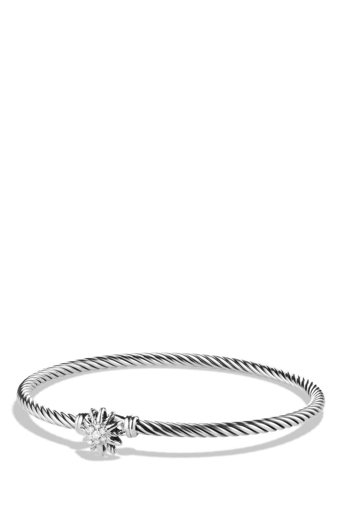 DAVID YURMAN 'Starburst' Single-Station Bracelet with Diamonds, Main, color, DIAMOND
