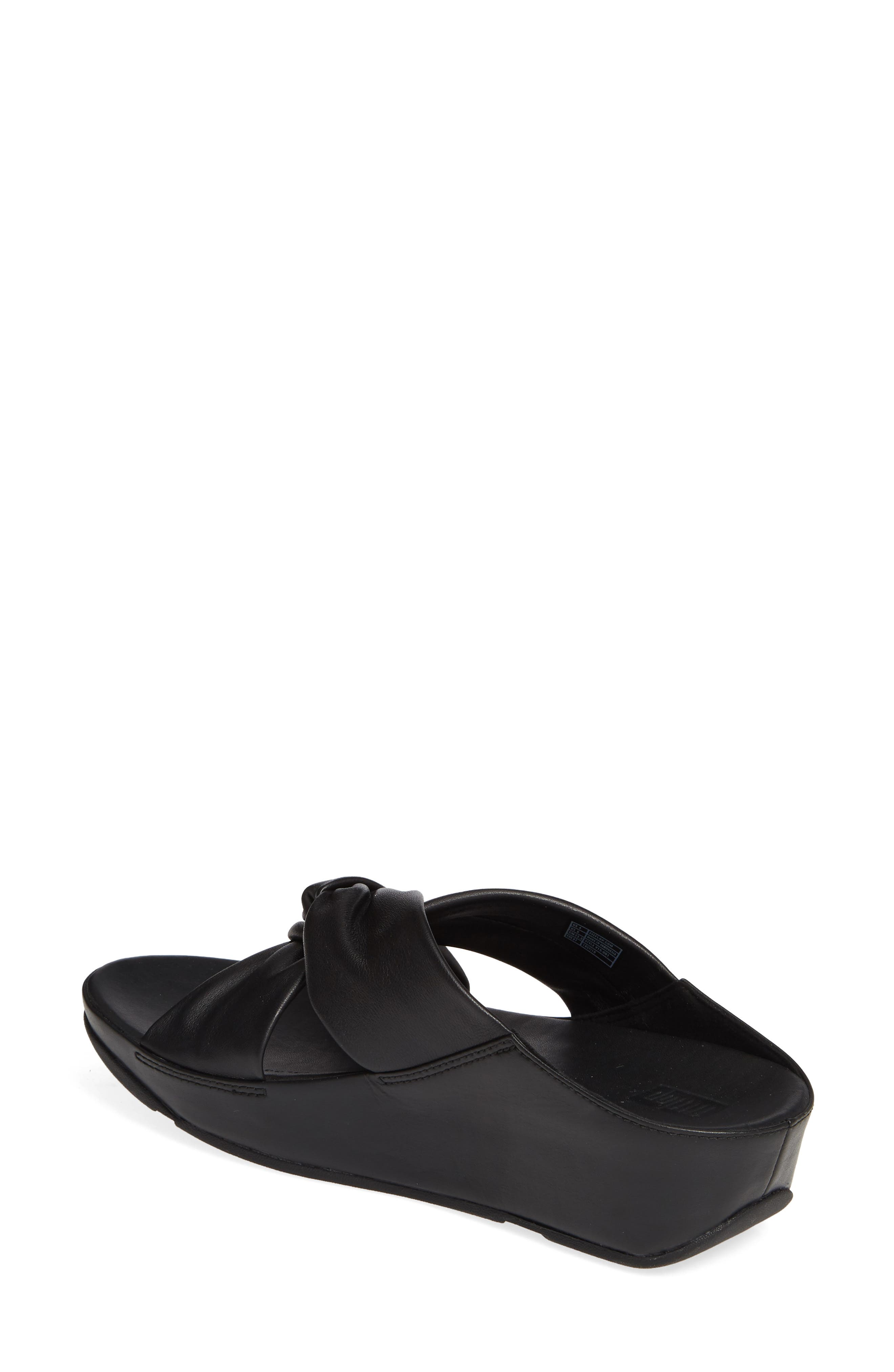 FITFLOP, Twiss Slide Sandal, Alternate thumbnail 2, color, BLACK LEATHER