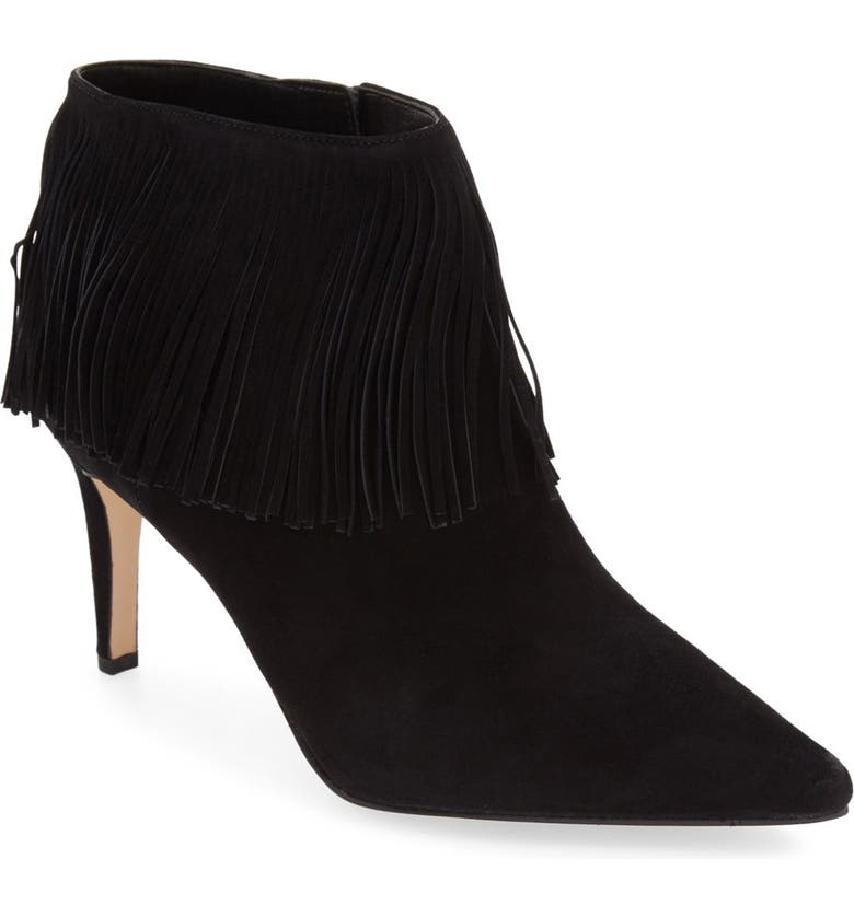 1c008d595 Sam Edelman  Kandice  Fringed Suede Pointy Toe Bootie (Women ...