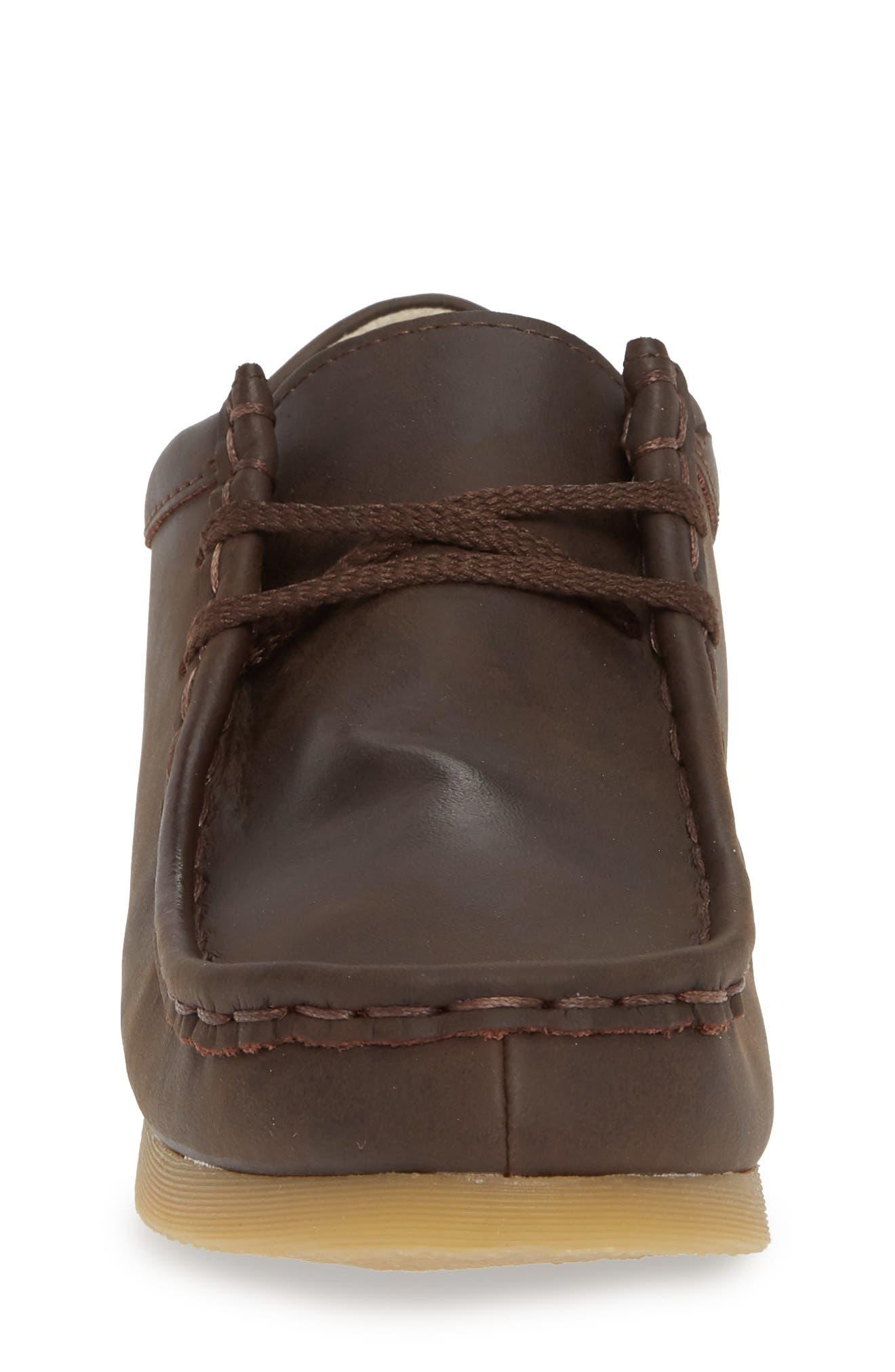 FOOTMATES, Wally Low Chukka Boot, Alternate thumbnail 4, color, BROWN OILED