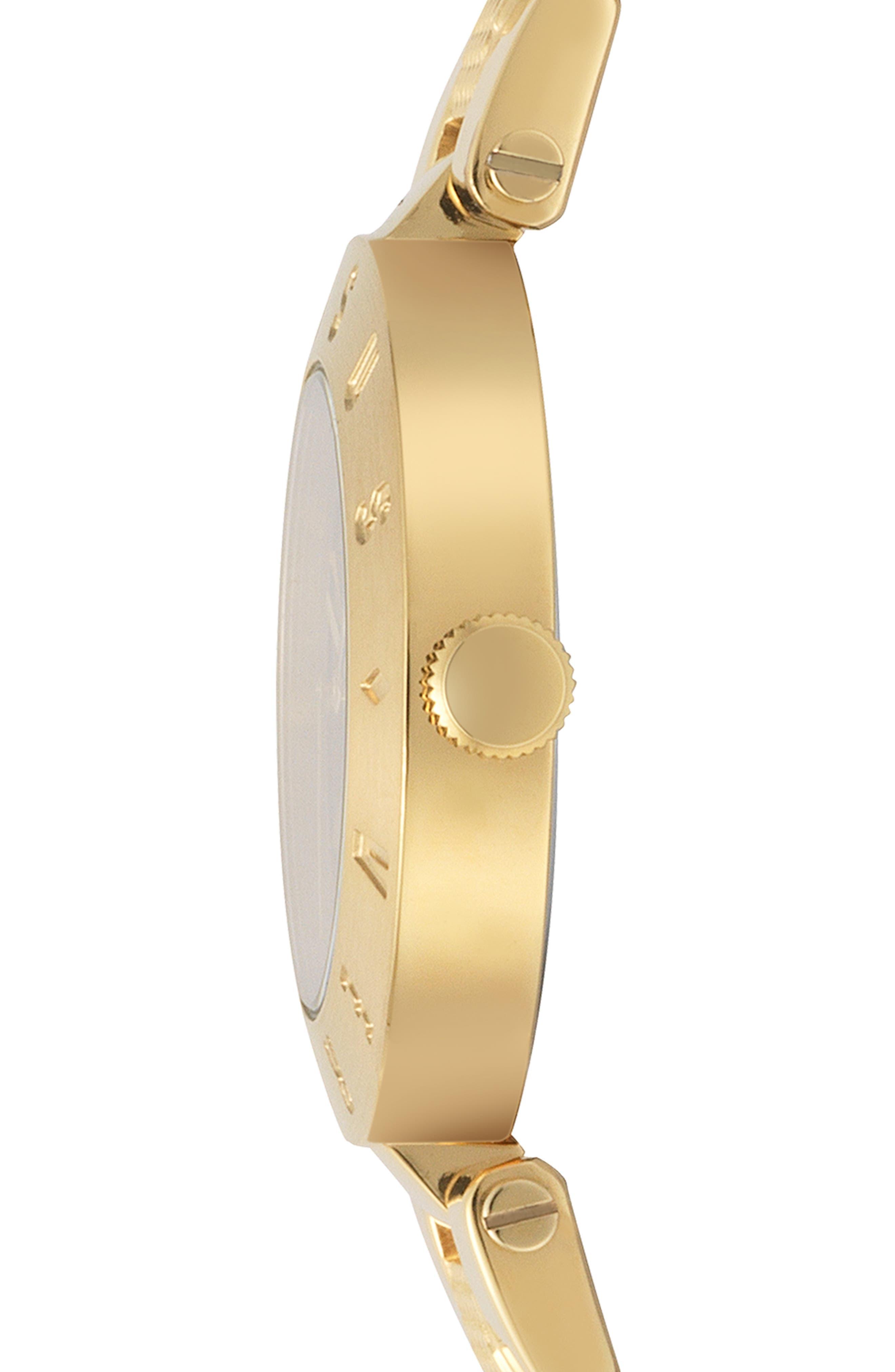 VERSUS VERSACE, Logo Bracelet Watch, 34mm, Alternate thumbnail 2, color, GOLD/ BLUE