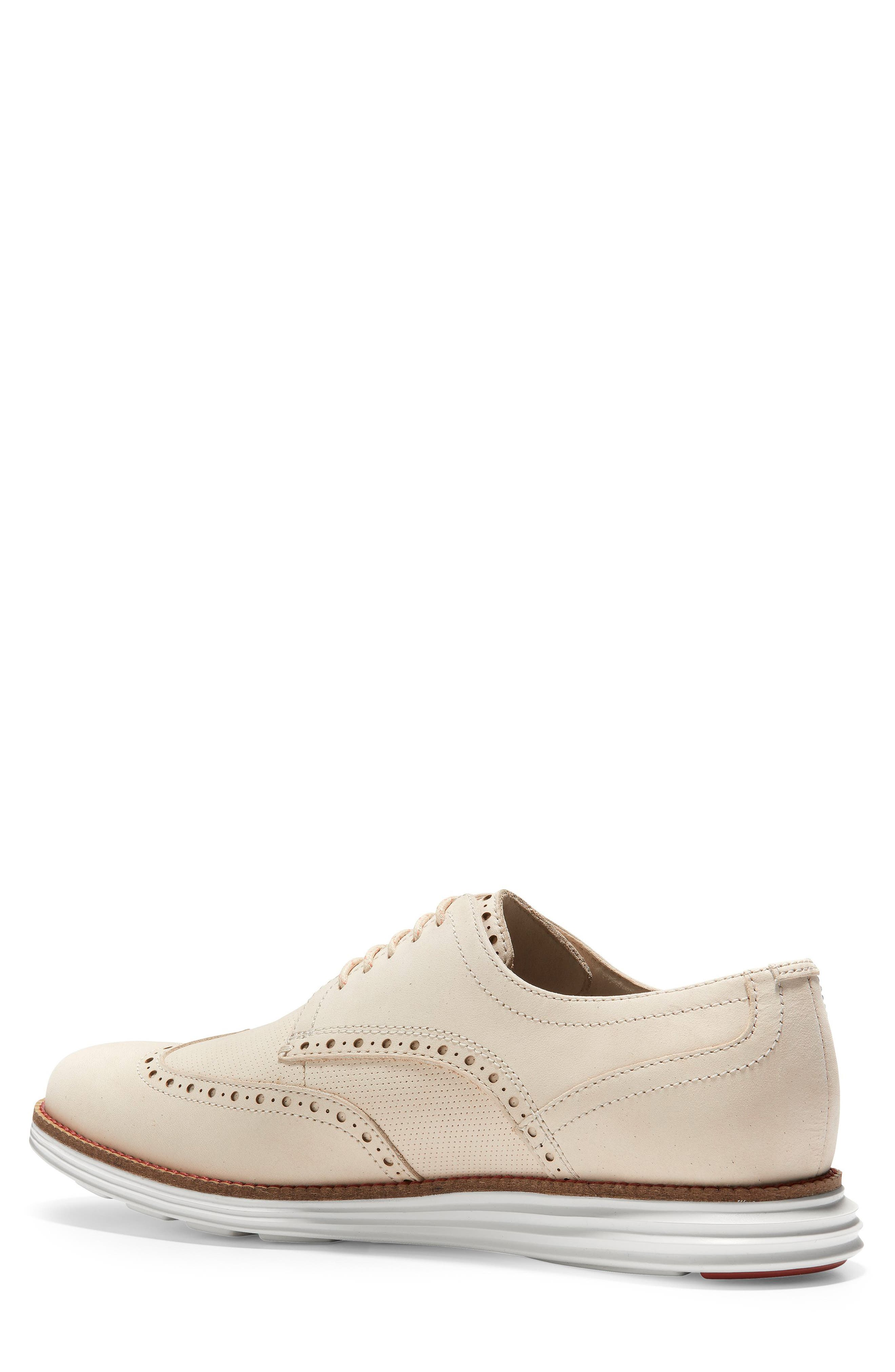 COLE HAAN, Original Grand Wingtip, Alternate thumbnail 2, color, SAND/ OPTIC WHITE NUBUCK