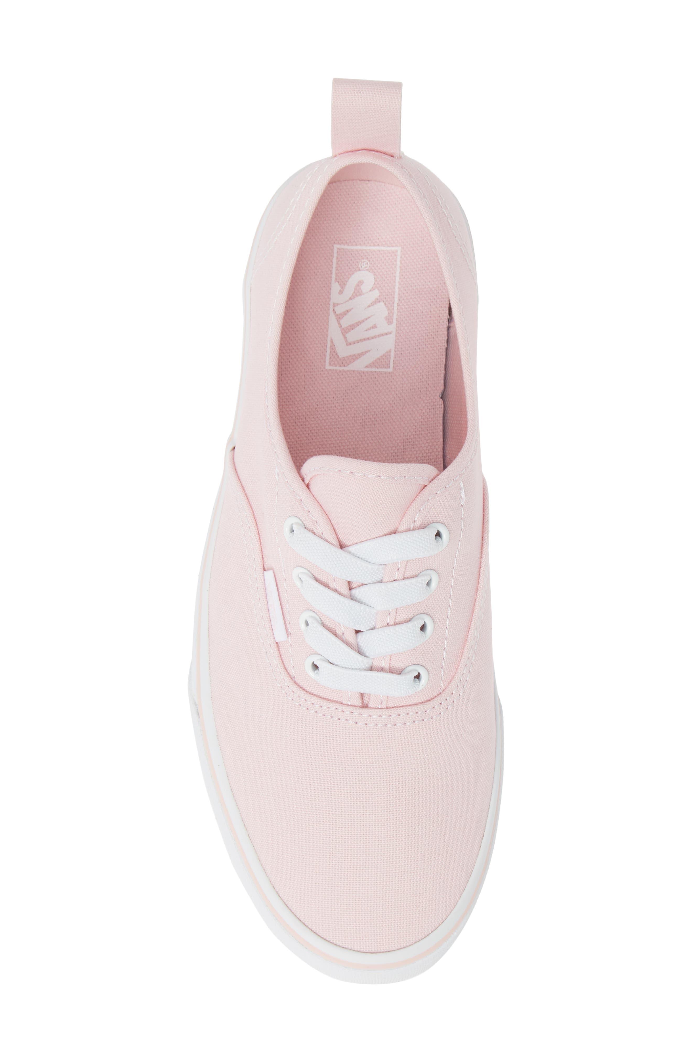 VANS, Authentic Elastic Lace Sneaker, Alternate thumbnail 5, color, CHALK PINK/ TRUE WHITE
