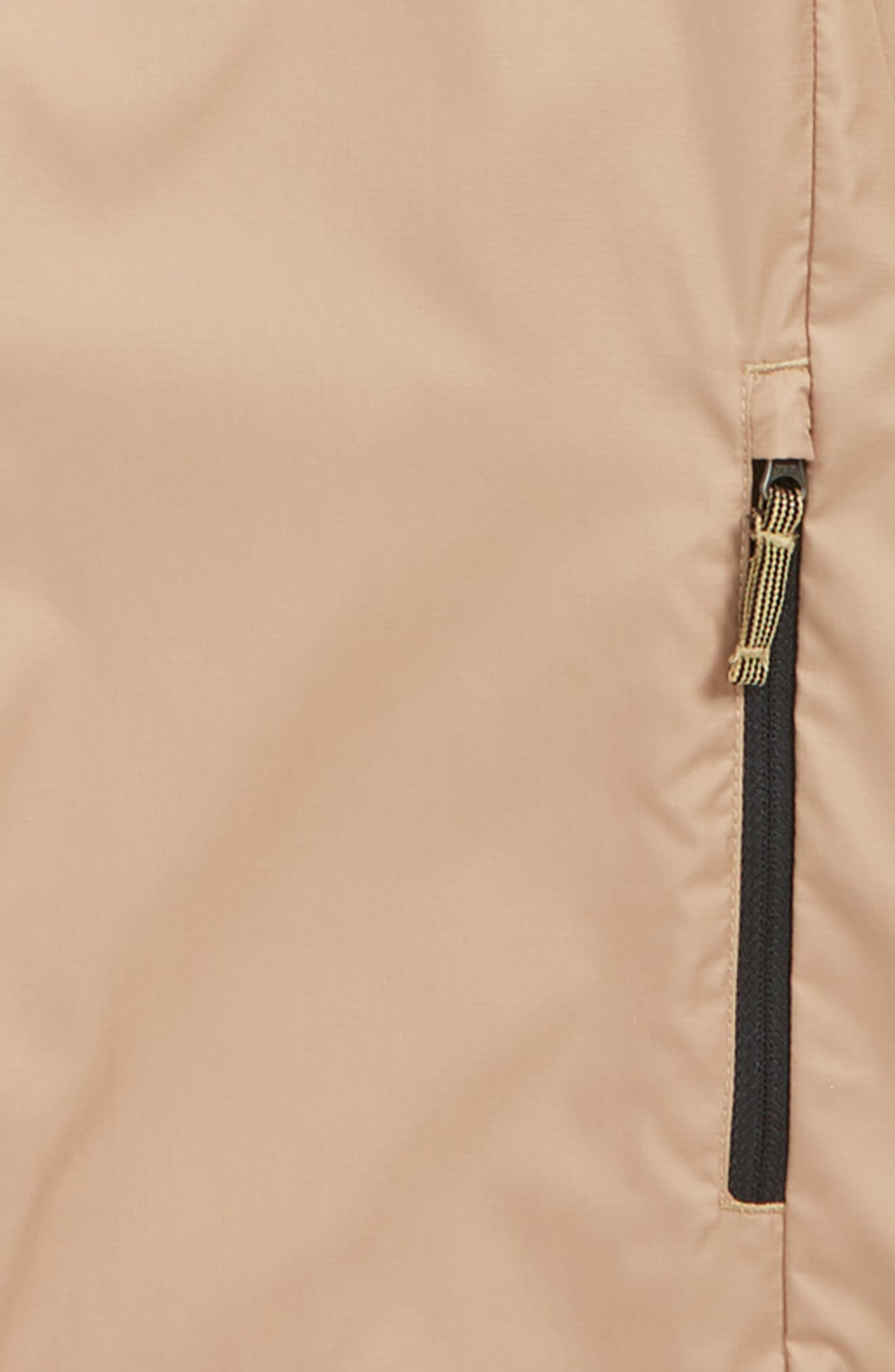 THE NORTH FACE, Flurry Water Repellent Hooded Windbreaker, Alternate thumbnail 3, color, KELP TAN