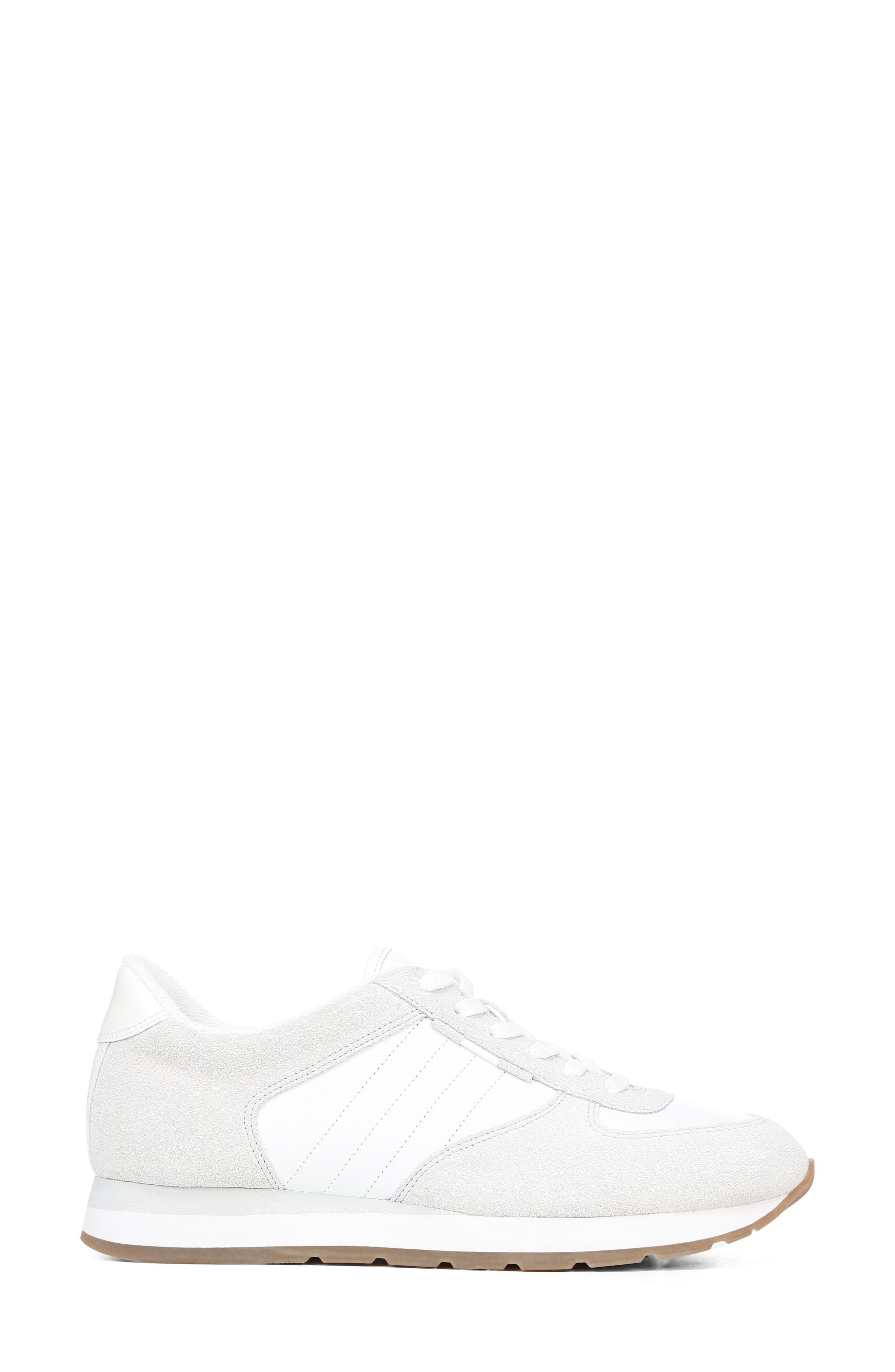 VINCE, Pasha Sneaker, Alternate thumbnail 3, color, WHITE