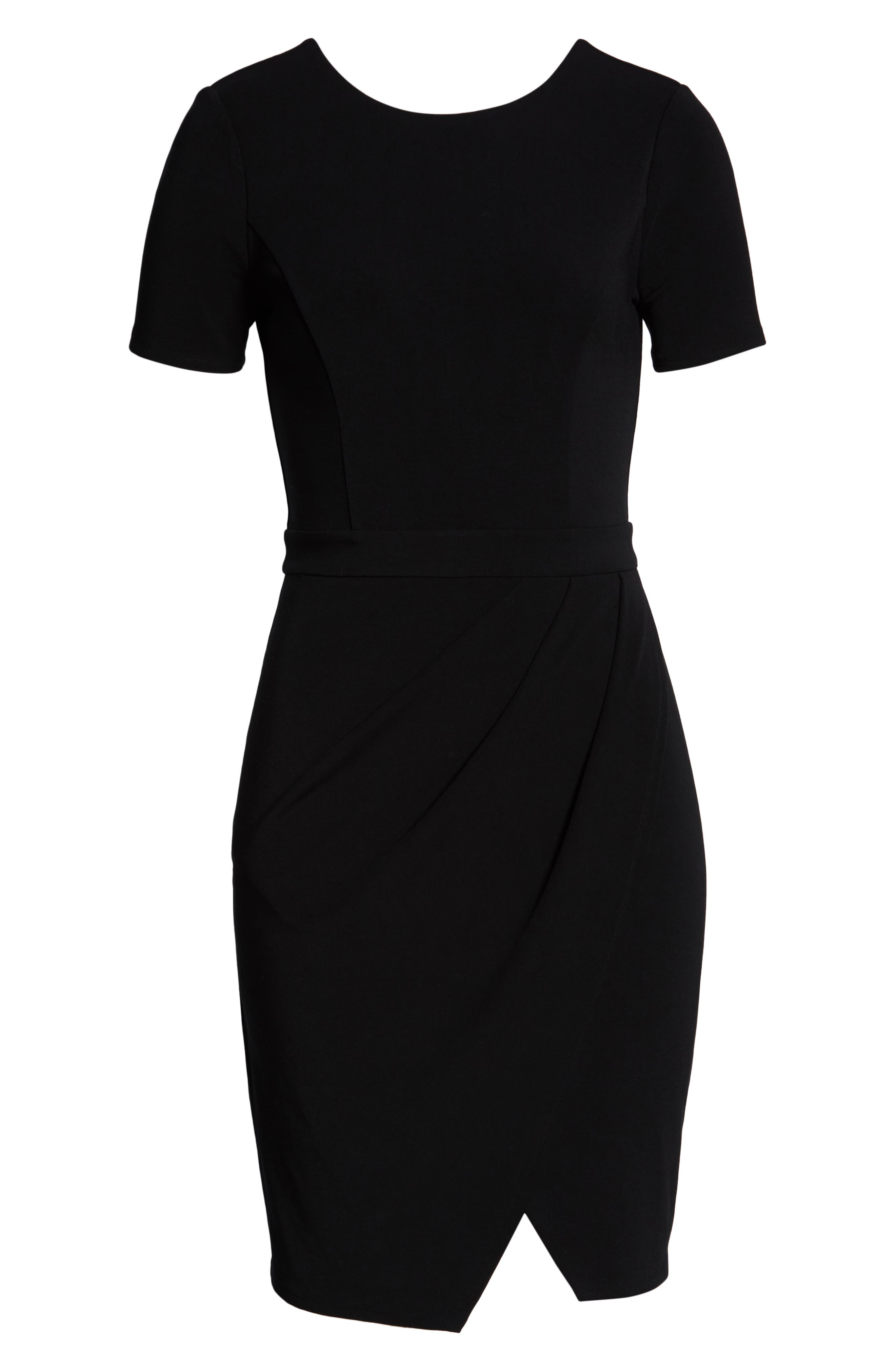 ALI & JAY, Pleated Jersey Dress, Alternate thumbnail 7, color, BLACK