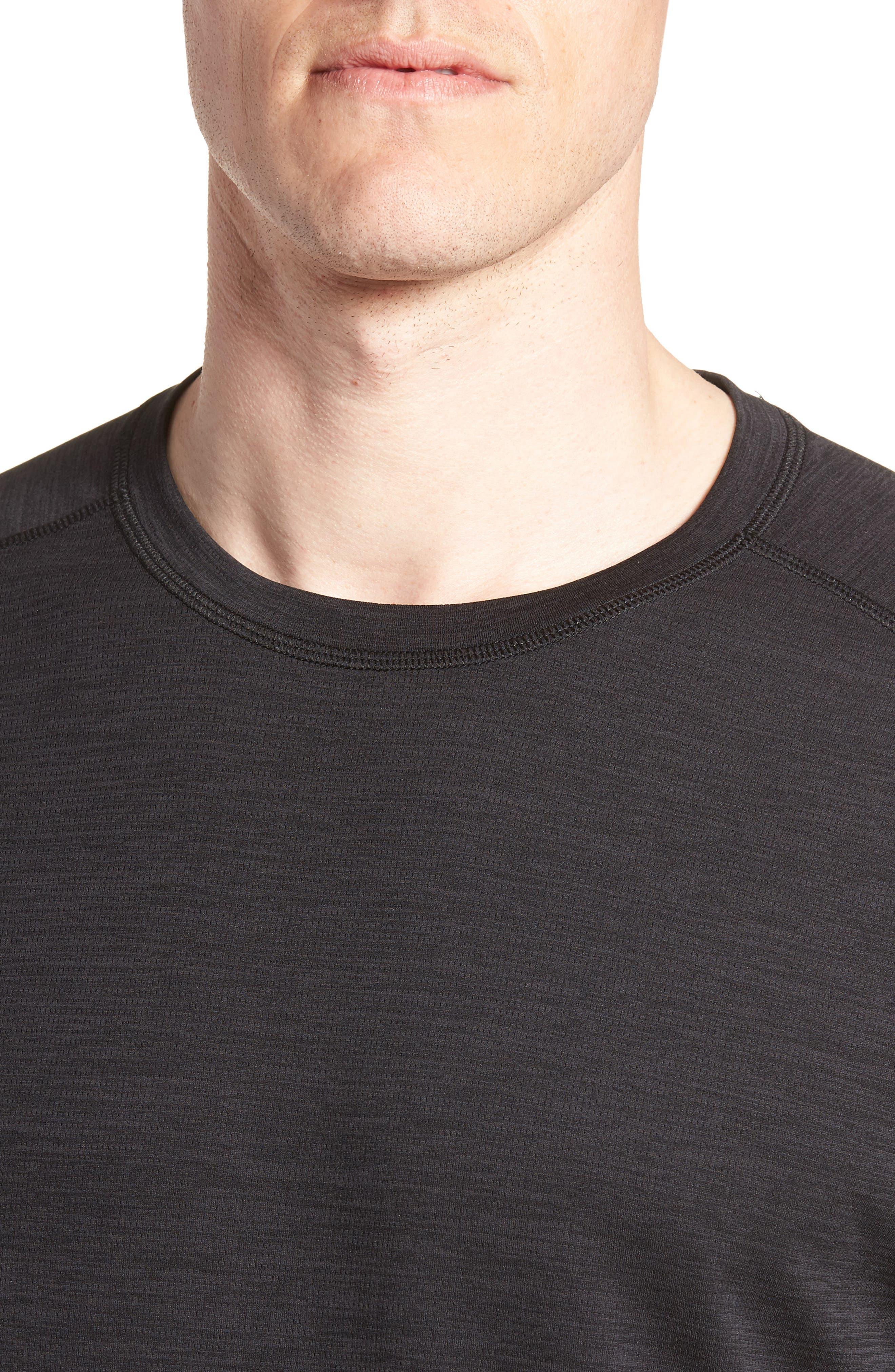 ZELLA, Kinoite Raglan Crewneck T-Shirt, Alternate thumbnail 5, color, BLACK OXIDE MELANGE