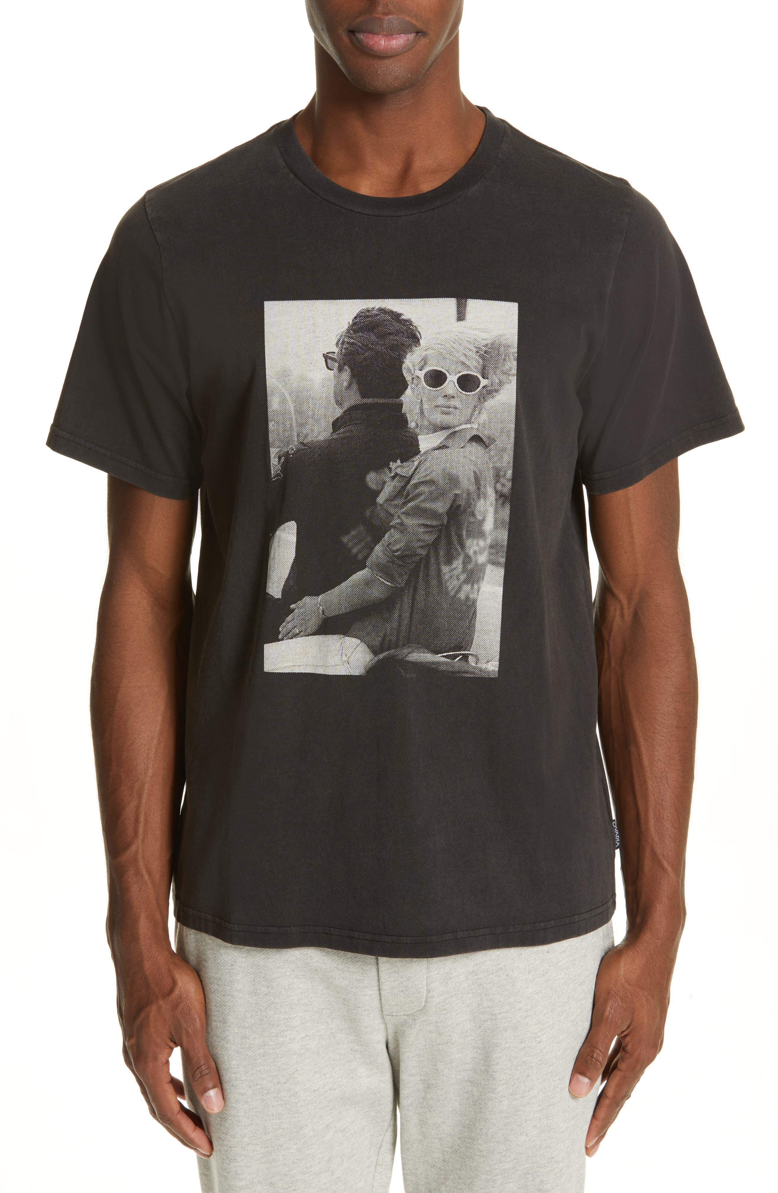 OVADIA & SONS, Bike Photo Graphic T-Shirt, Main thumbnail 1, color, BLACK