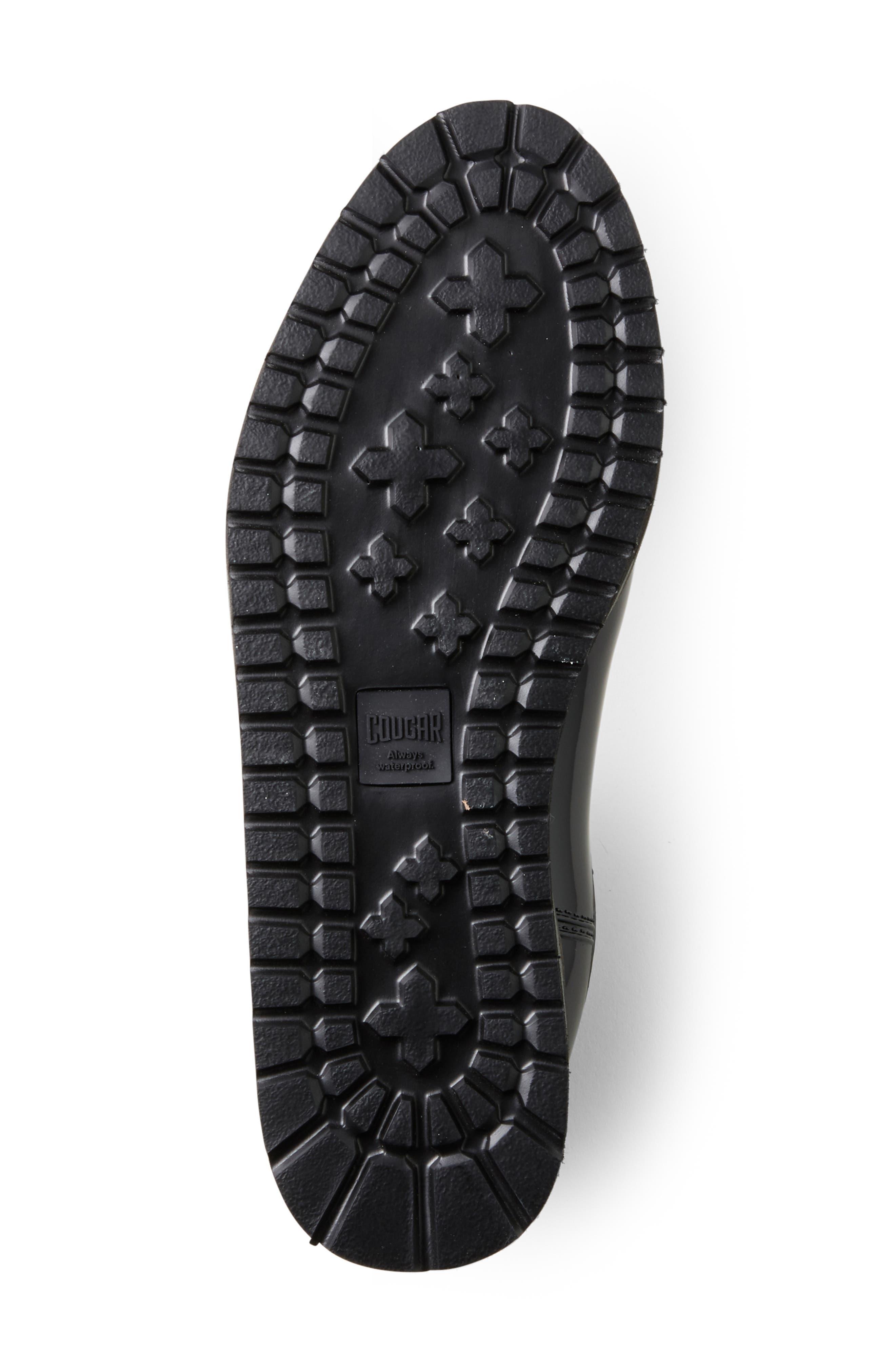 COUGAR, Kensington Chelsea Rain Boot, Alternate thumbnail 4, color, BLACK/ CHARCOAL
