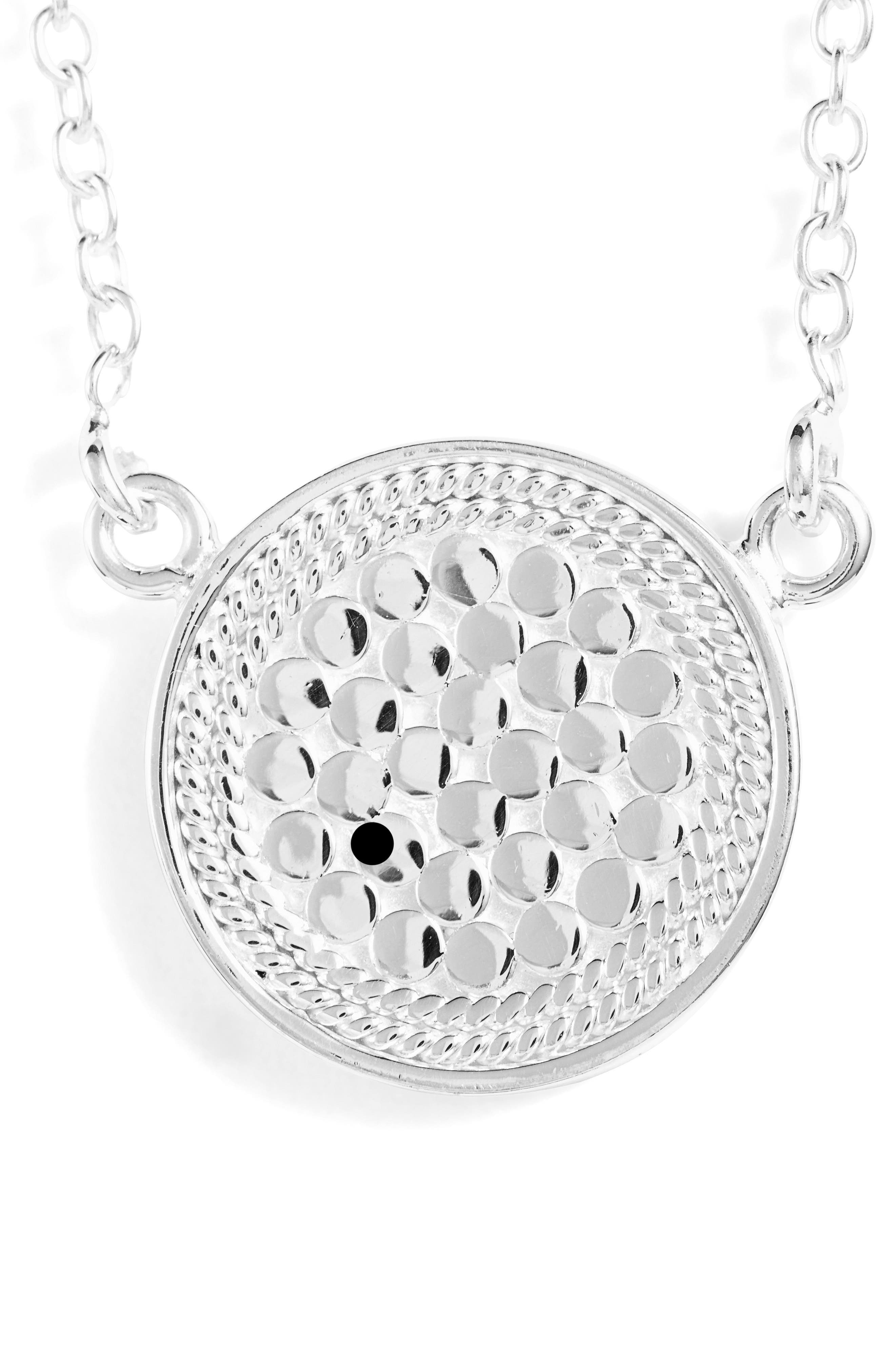 ANNA BECK, Reversible Disc Necklace, Alternate thumbnail 5, color, GOLD/ SILVER
