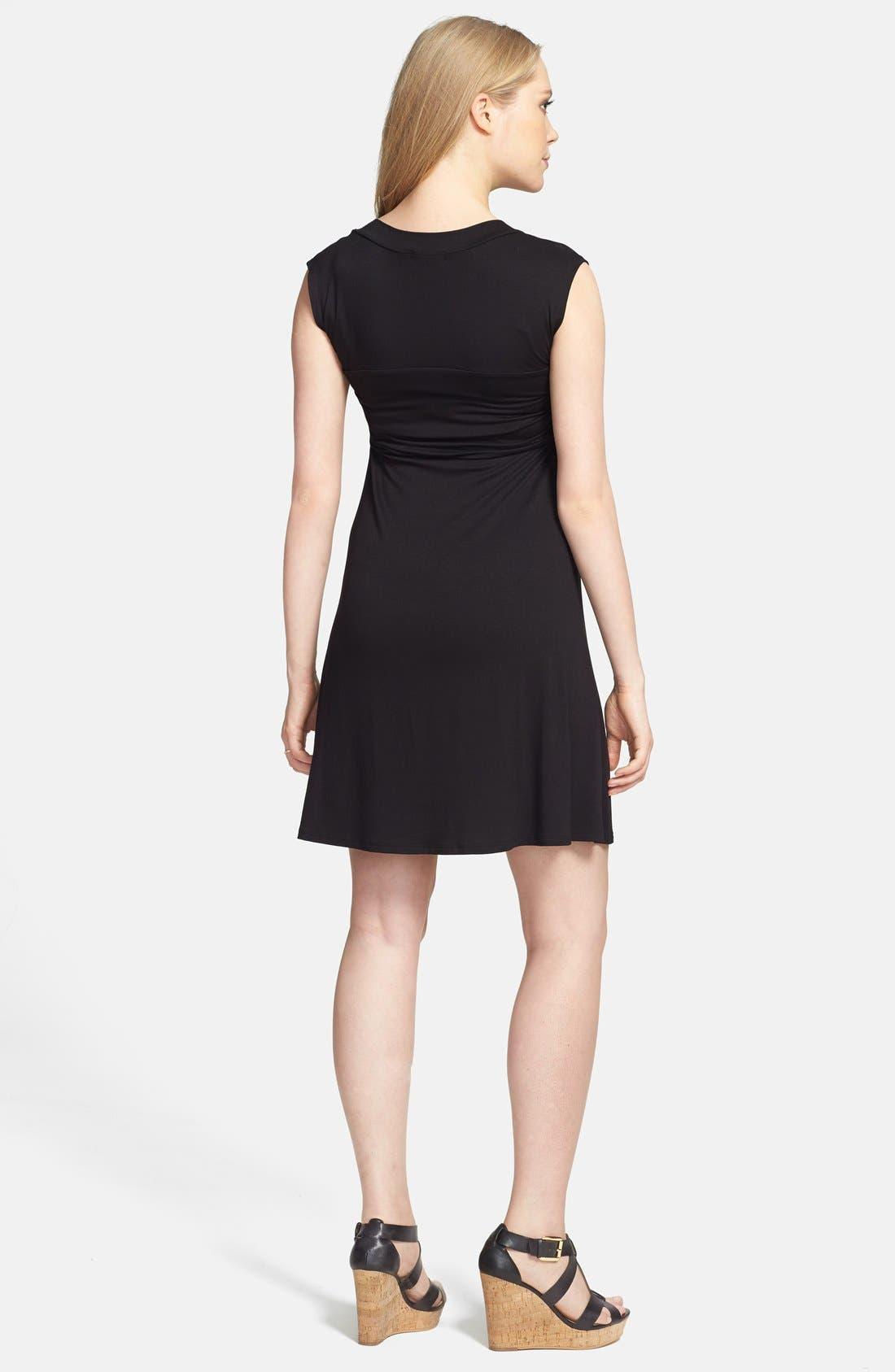 MATERNAL AMERICA, 'Mini Sweetheart' Dress, Alternate thumbnail 2, color, BLACK