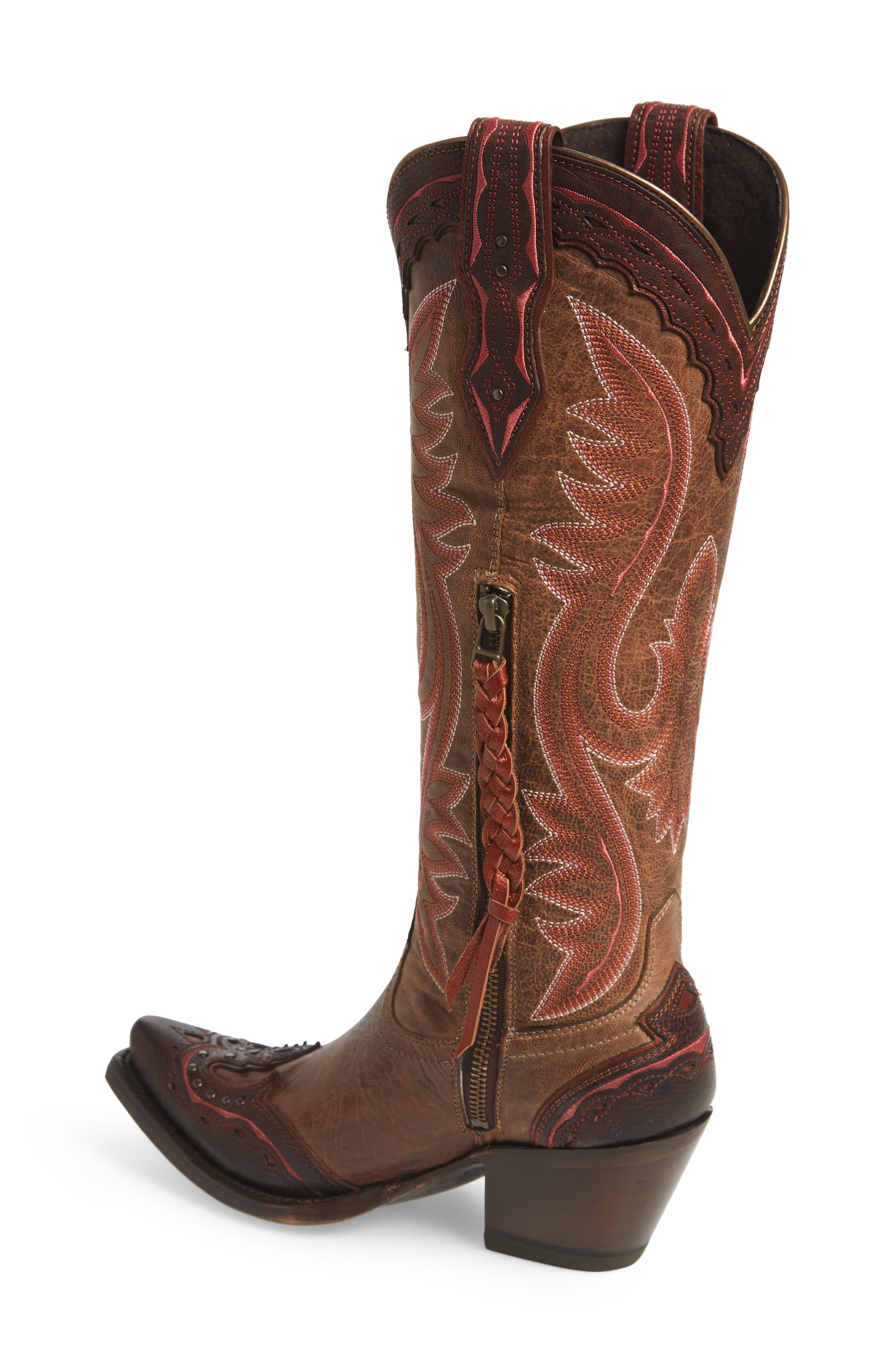 ARIAT, Adelina Western Boot, Alternate thumbnail 2, color, WEATHER TAN LEATHER