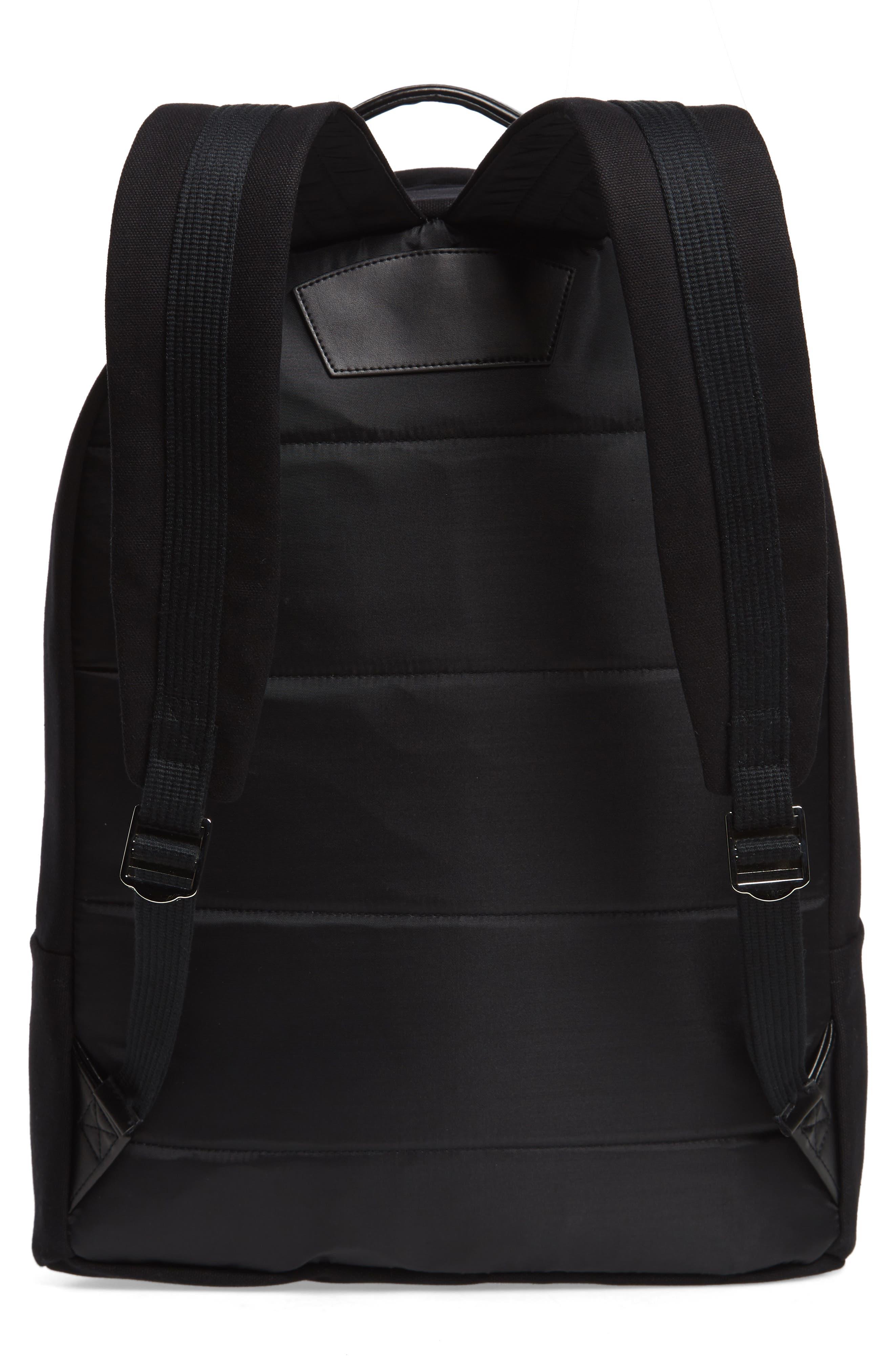 SATURDAYS NYC, Hannes Water Repellent Backpack, Alternate thumbnail 4, color, BLACK