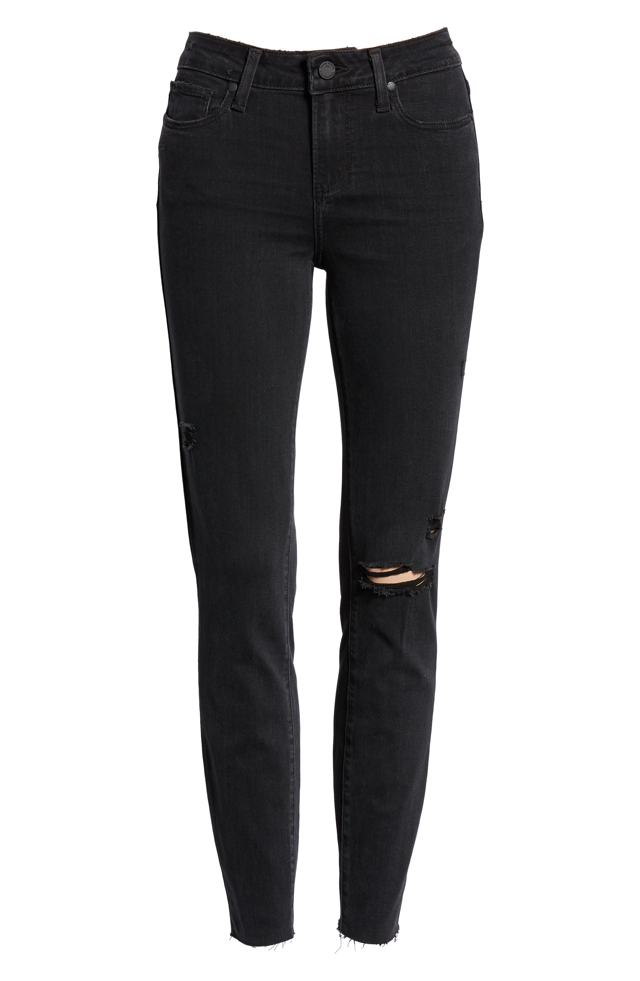 PAIGE, Transcend - Verdugo Ankle Skinny Jeans, Alternate thumbnail 7, color, 001