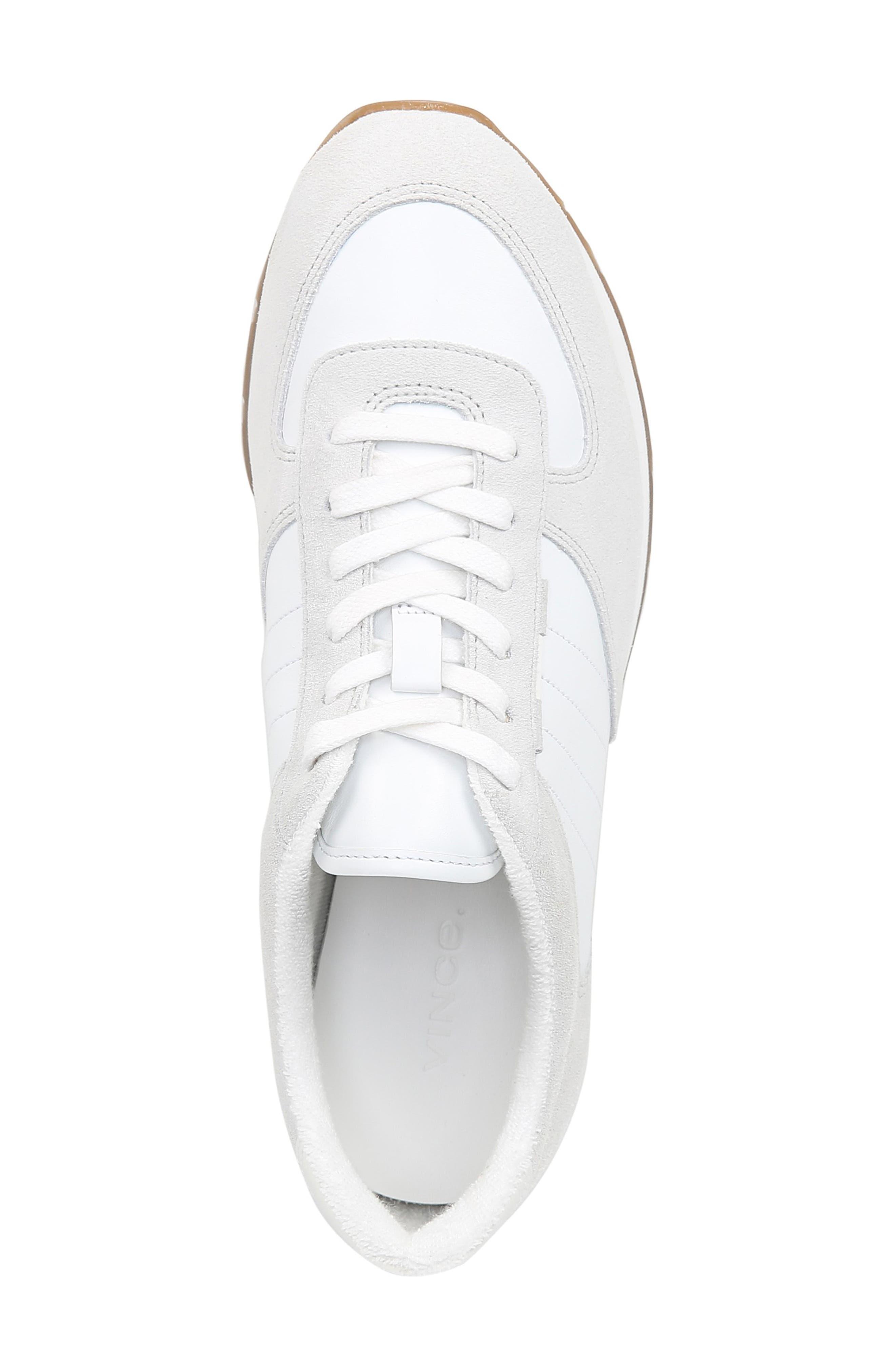 VINCE, Pasha Sneaker, Alternate thumbnail 5, color, WHITE