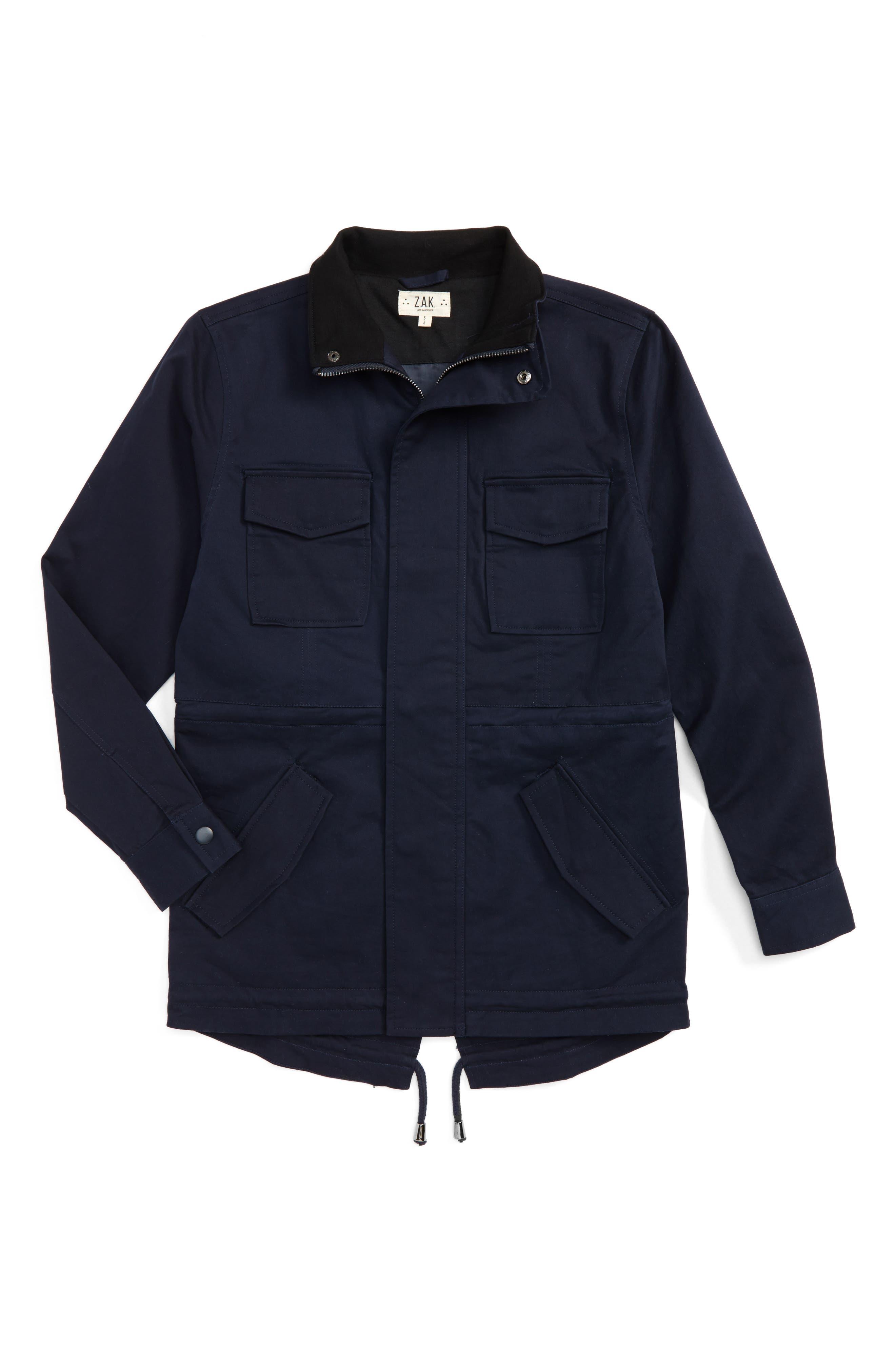 Z.A.K. BRAND Storm Jacket, Main, color, NAVY