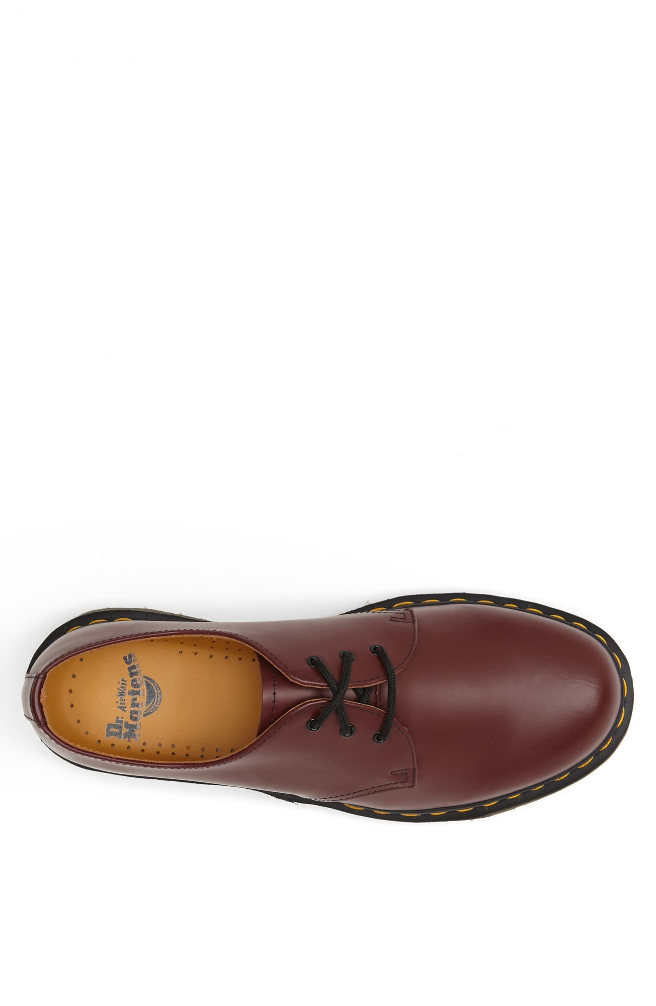 DR. MARTENS, Plain Toe Derby, Alternate thumbnail 3, color, CHERRY SMOOTH