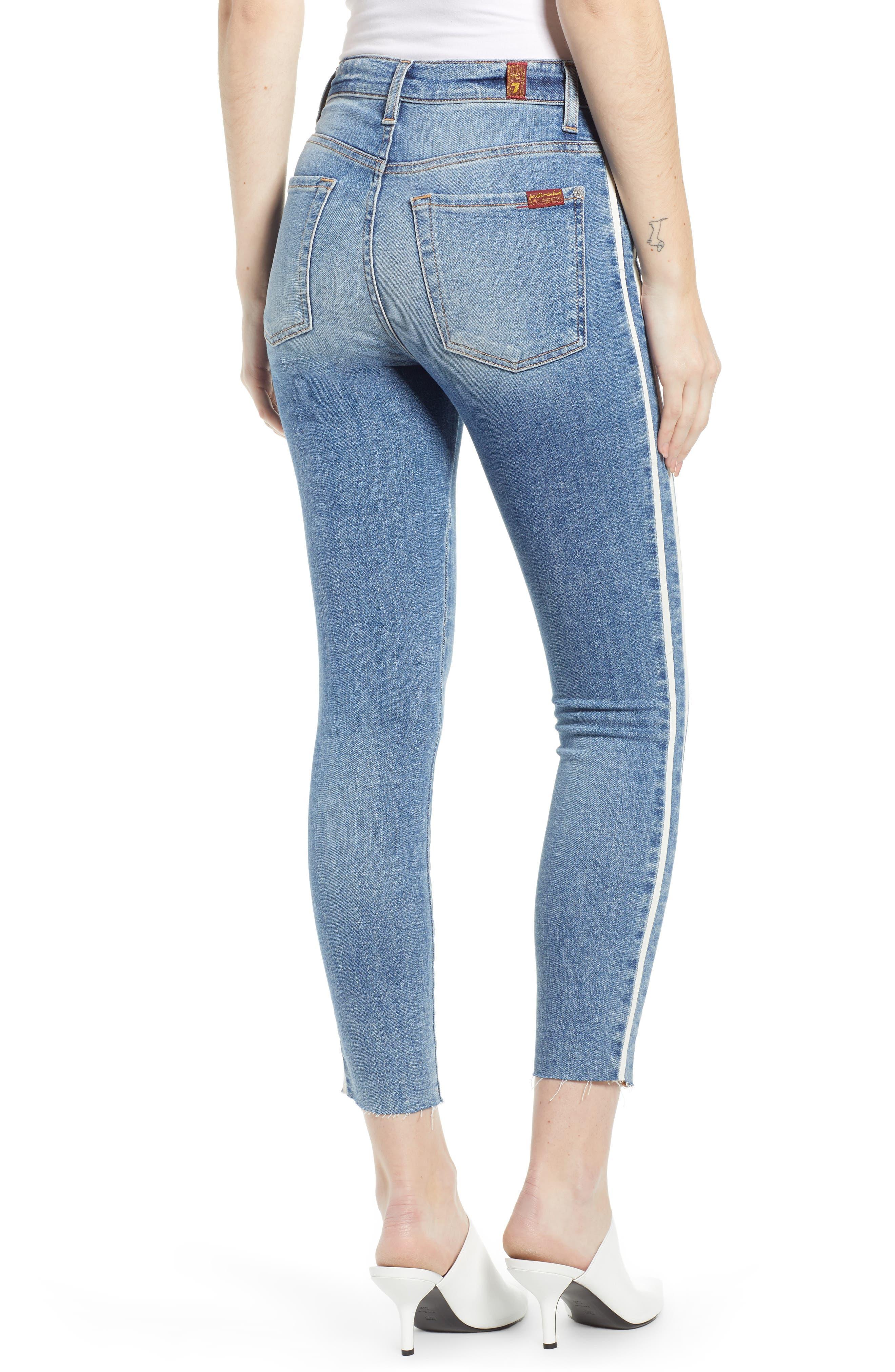 7 FOR ALL MANKIND<SUP>®</SUP>, Side Stripe Ankle Skinny Jeans, Alternate thumbnail 2, color, SLOANE VINTAGE