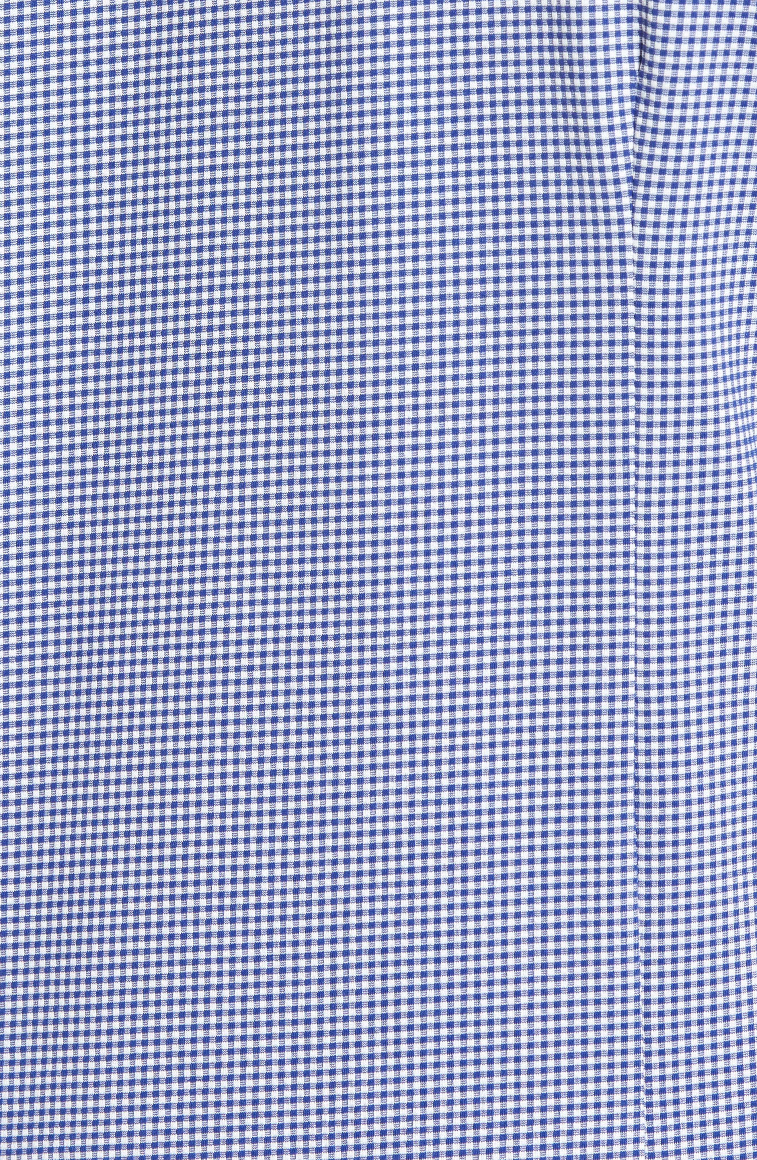 MIZZEN+MAIN, Beckett Trim Fit Gingham Sport Shirt, Alternate thumbnail 5, color, BLUE