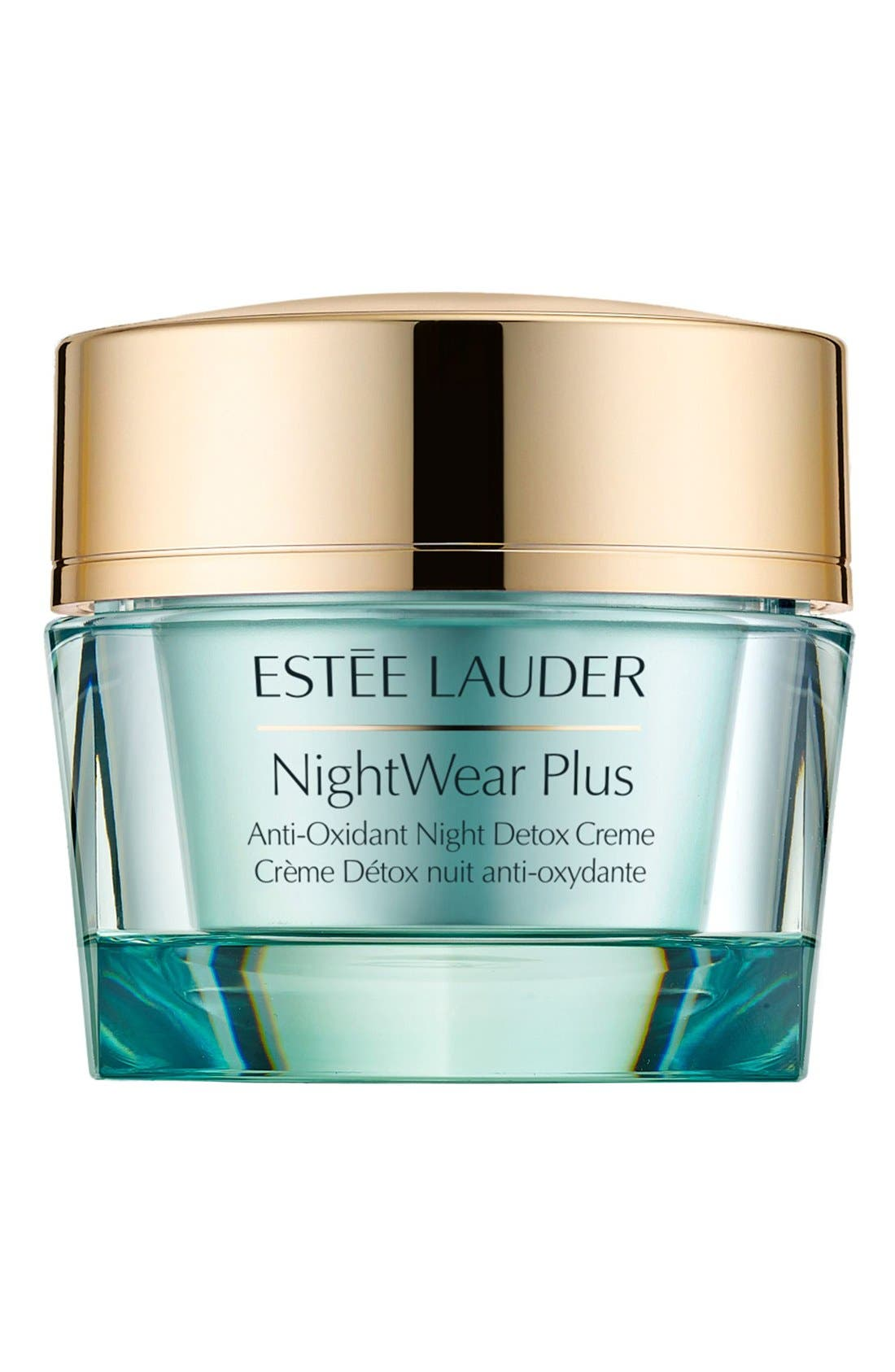 ESTÉE LAUDER, NightWear Plus Antioxidant Night Detox Cream, Main thumbnail 1, color, 000