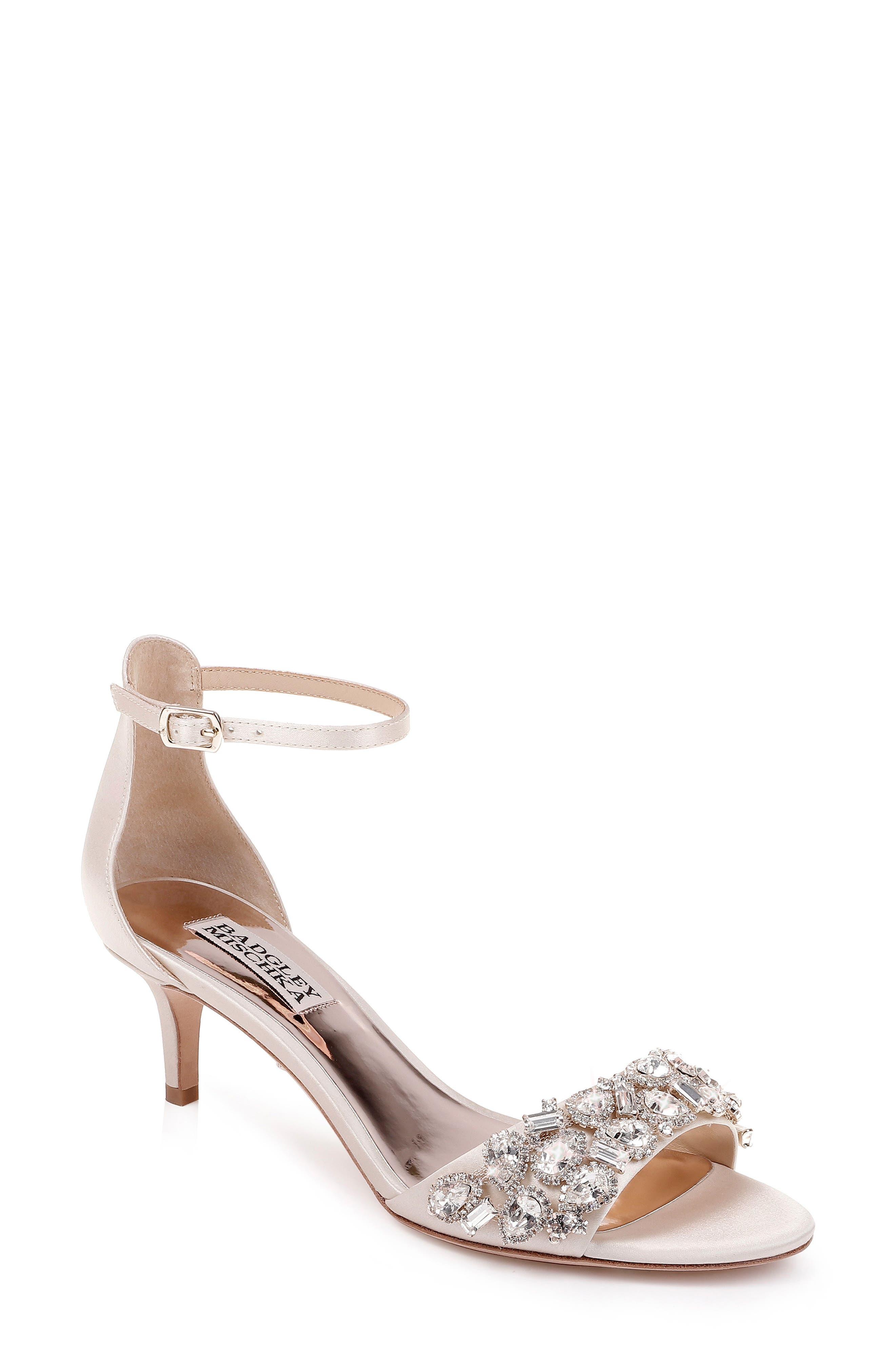 f9dfb5ea639 Badgley Mischka Lara Crystal Embellished Sandal- Ivory