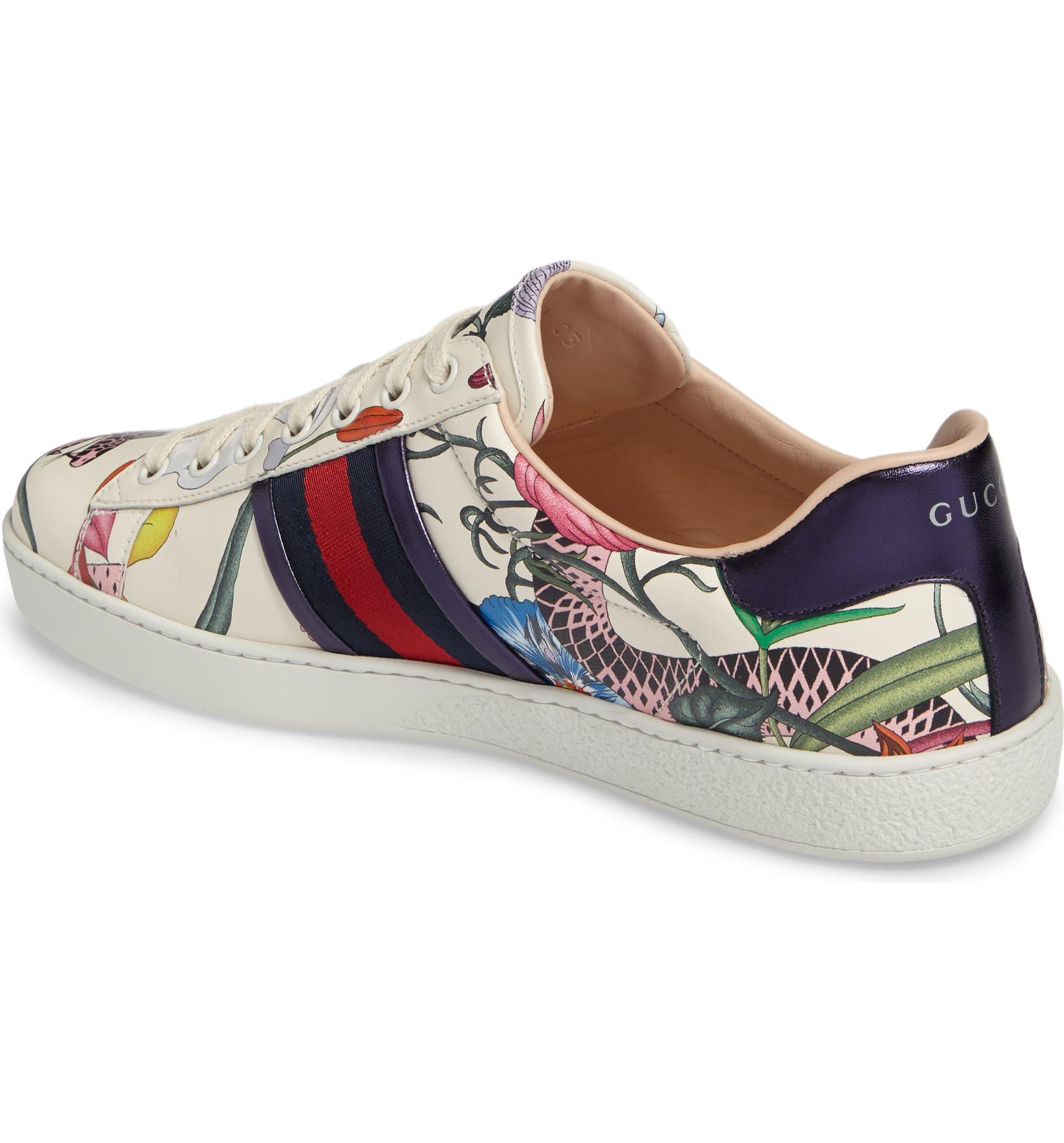 a9308b8c36e6d Gucci New Ace Flora Snake Sneaker (Men)