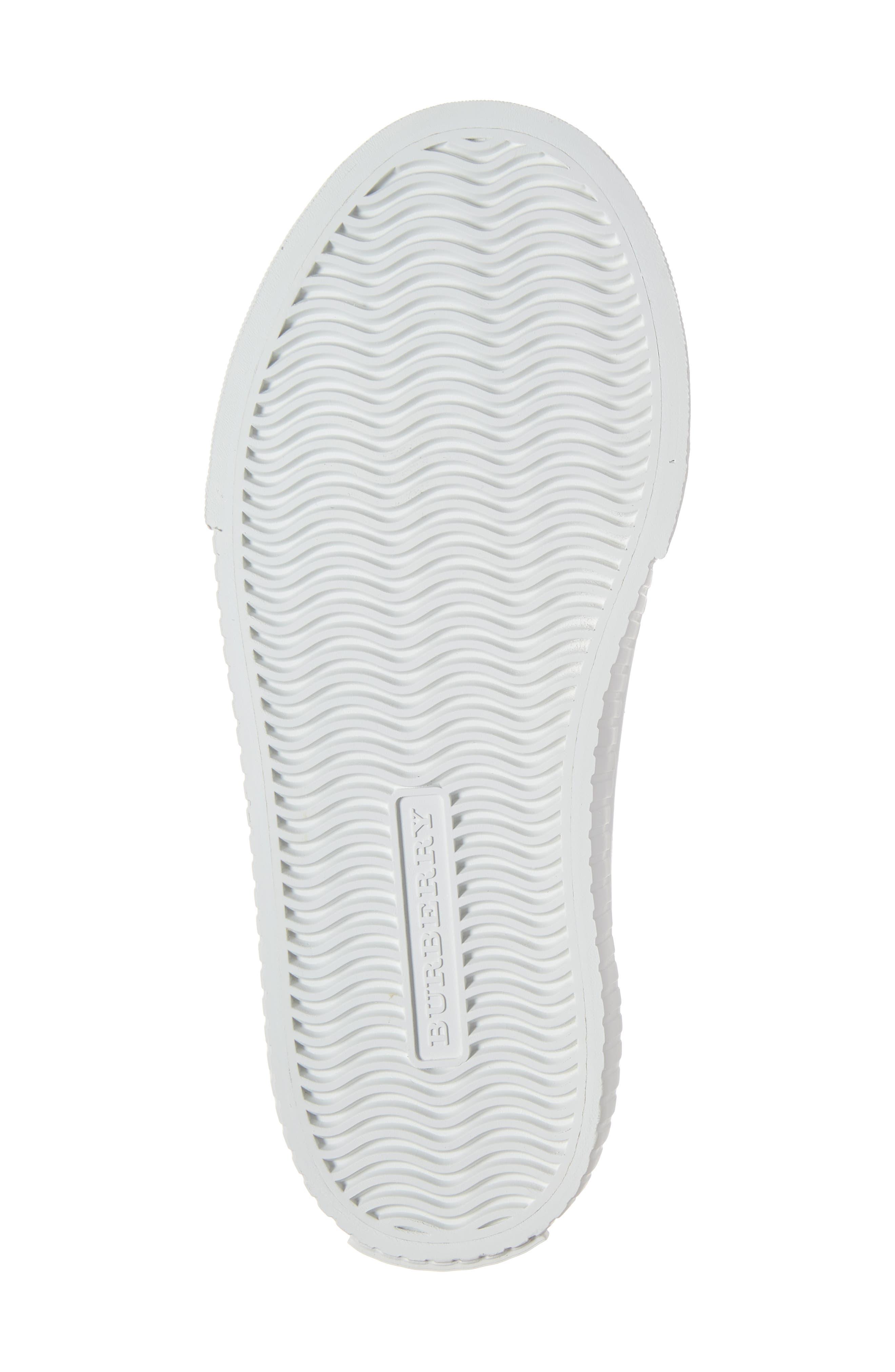 BURBERRY, Belside Sneaker, Alternate thumbnail 6, color, ANTIQUE YELLOW-OPTIC WHITE