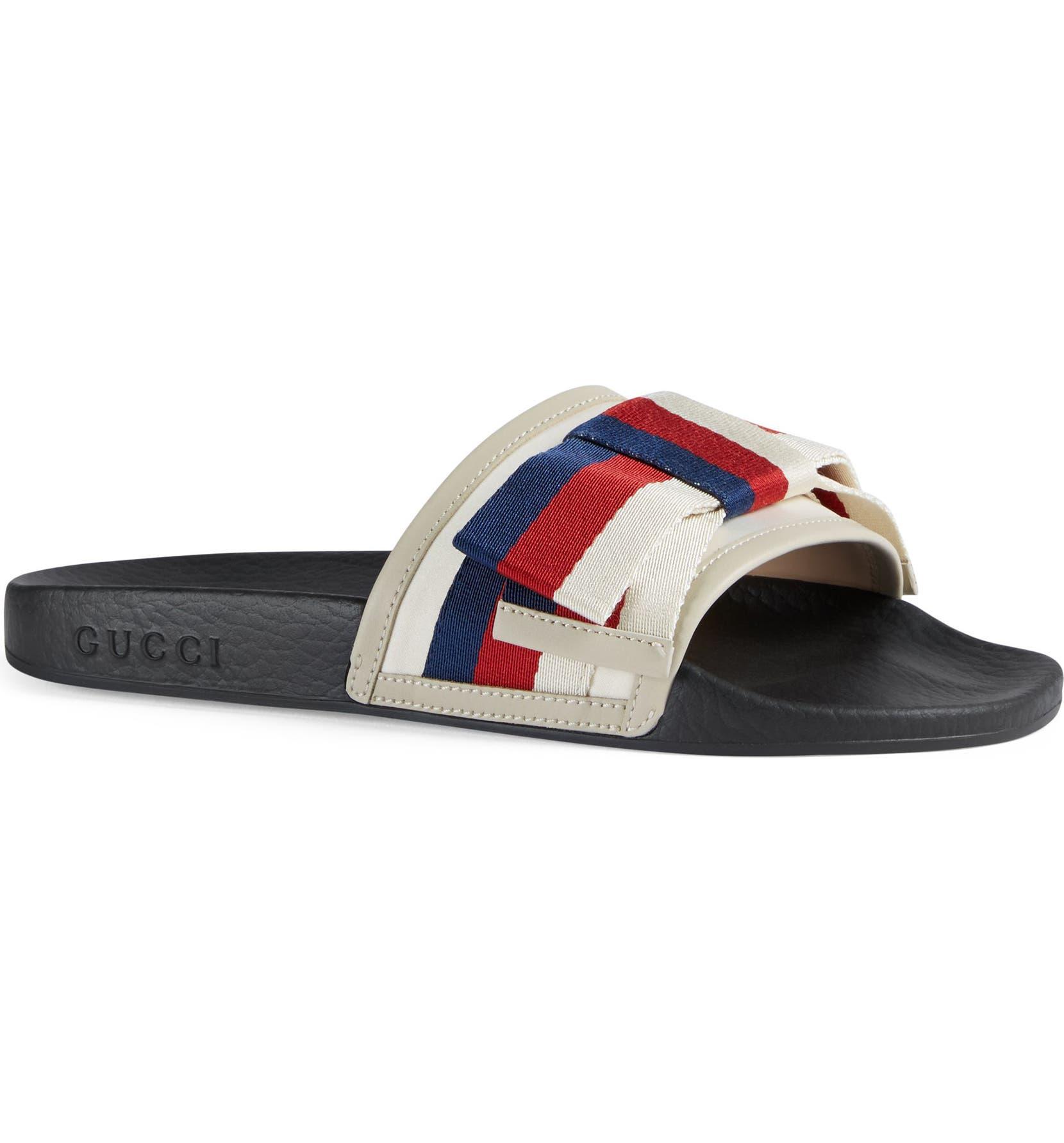 d196e8b02b4 Gucci Pursuit Bow Slide Sandal (Women)