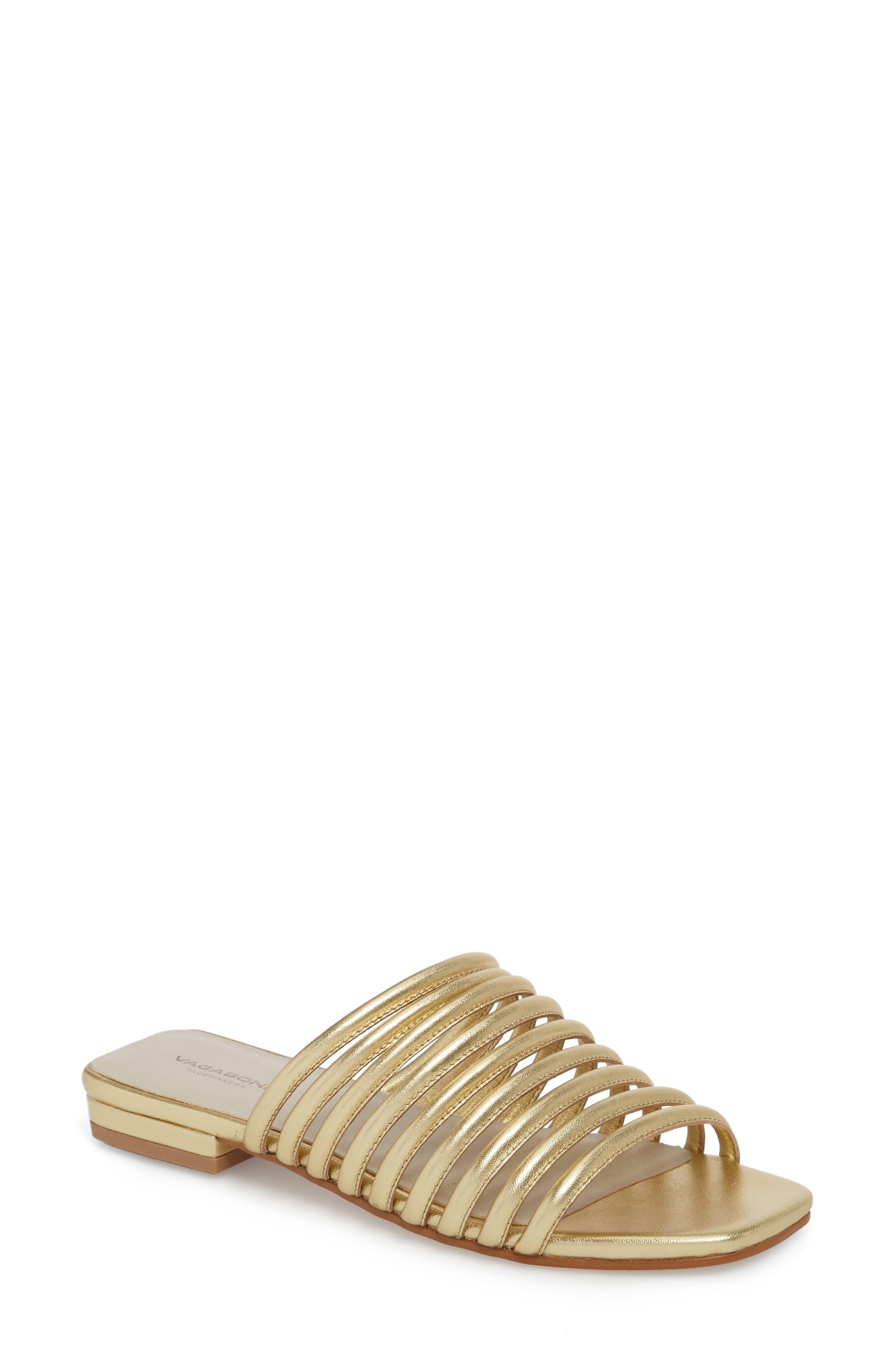 Vagabond Shoemakers Becky Slide Sandal, Metallic