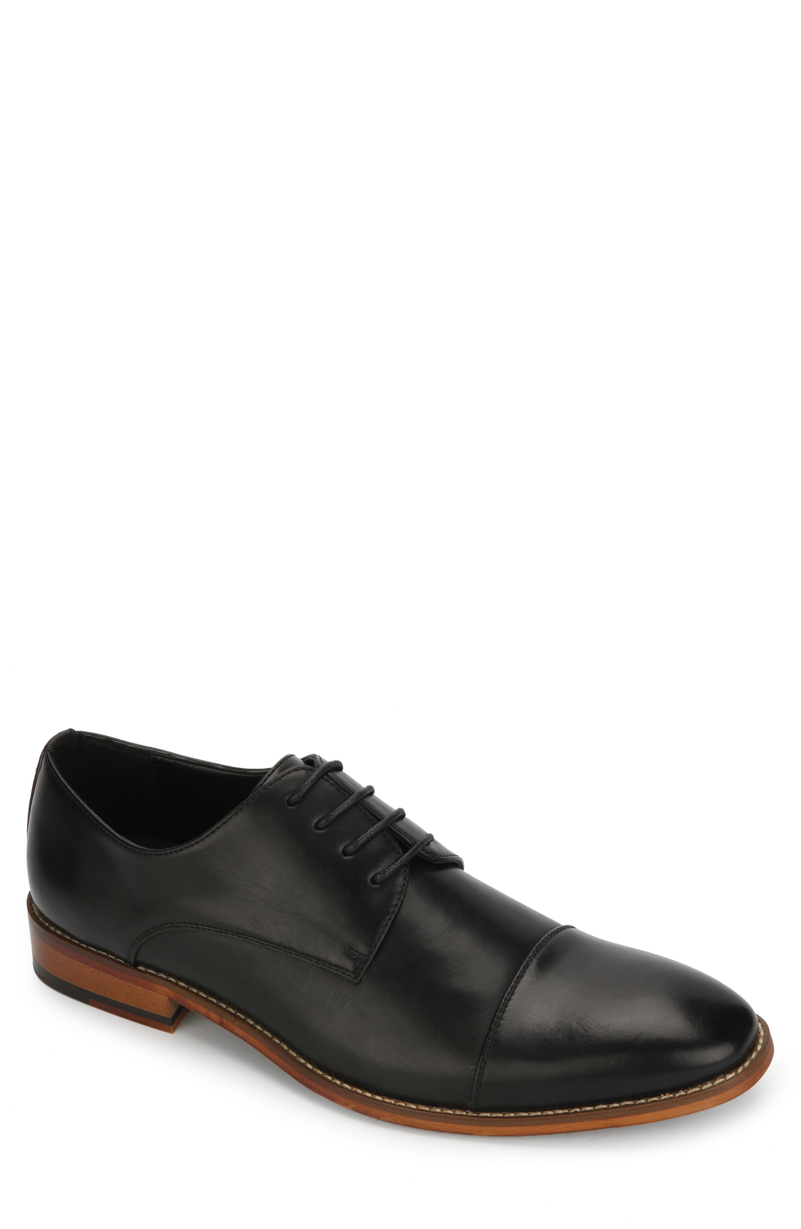 REACTION KENNETH COLE Blake Cap Toe Derby, Main, color, BLACK