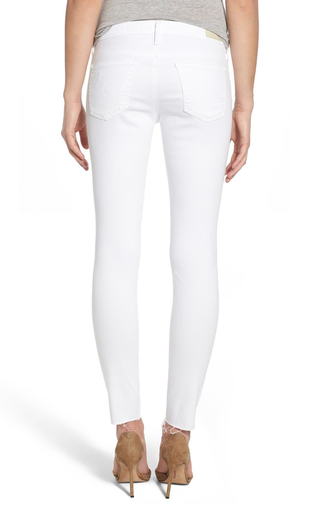 AG, 'The Legging' Cutoff Ankle Skinny Jeans, Alternate thumbnail 2, color, 100