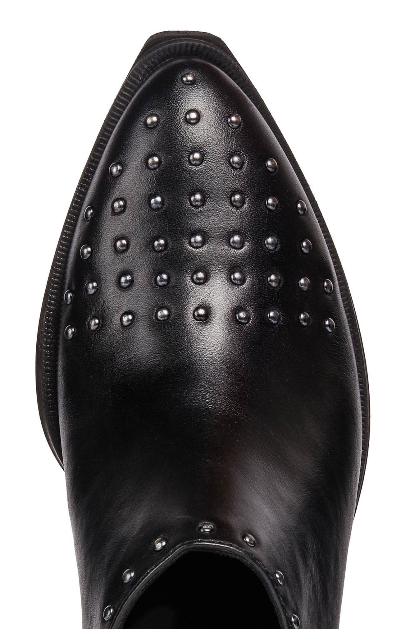 GEOX, Lovai Ankle Boot, Alternate thumbnail 5, color, BLACK LEATHER