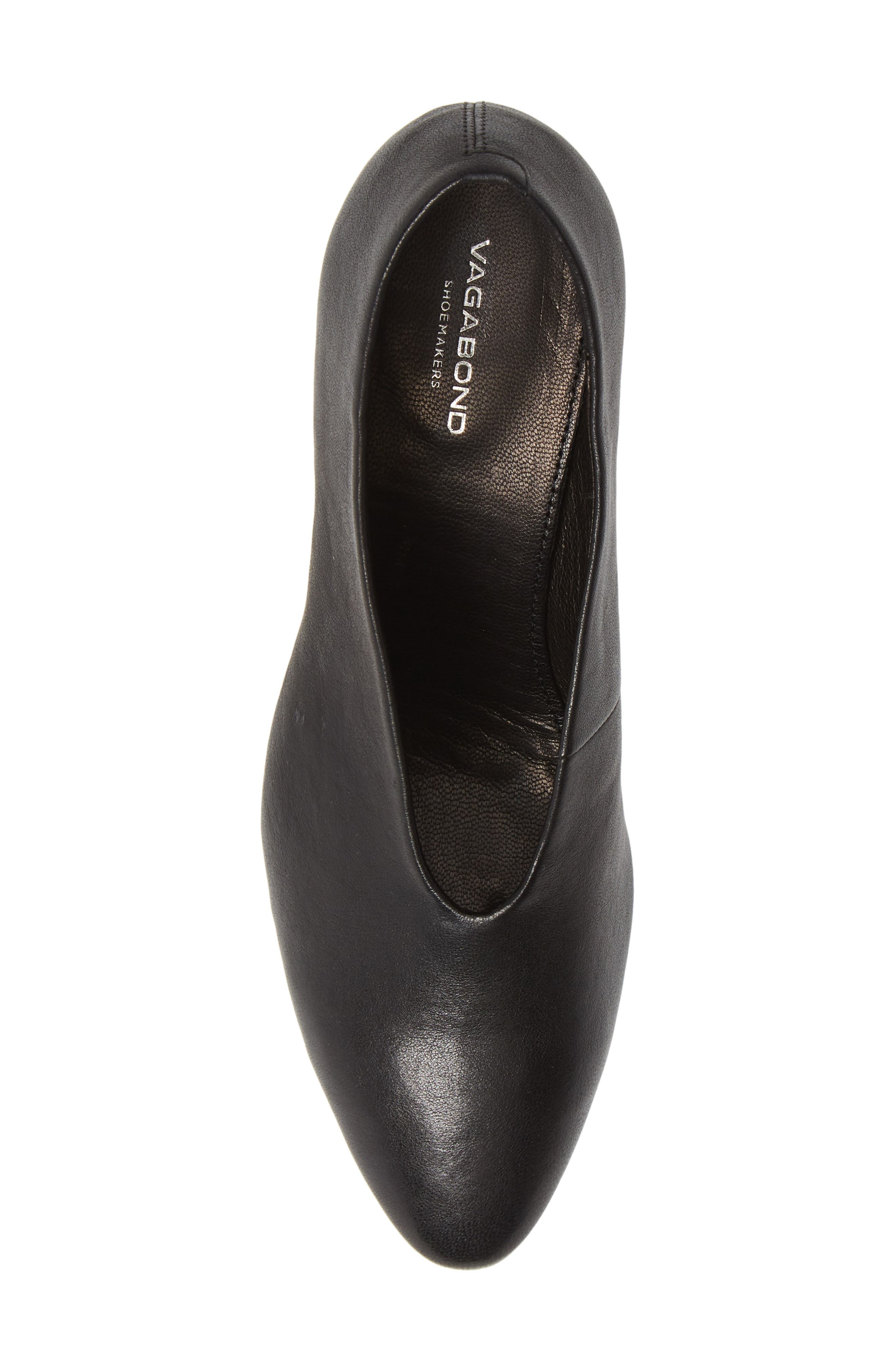 VAGABOND, Shoemakers Eve Pump, Alternate thumbnail 5, color, BLACK/ BLACK LEATHER