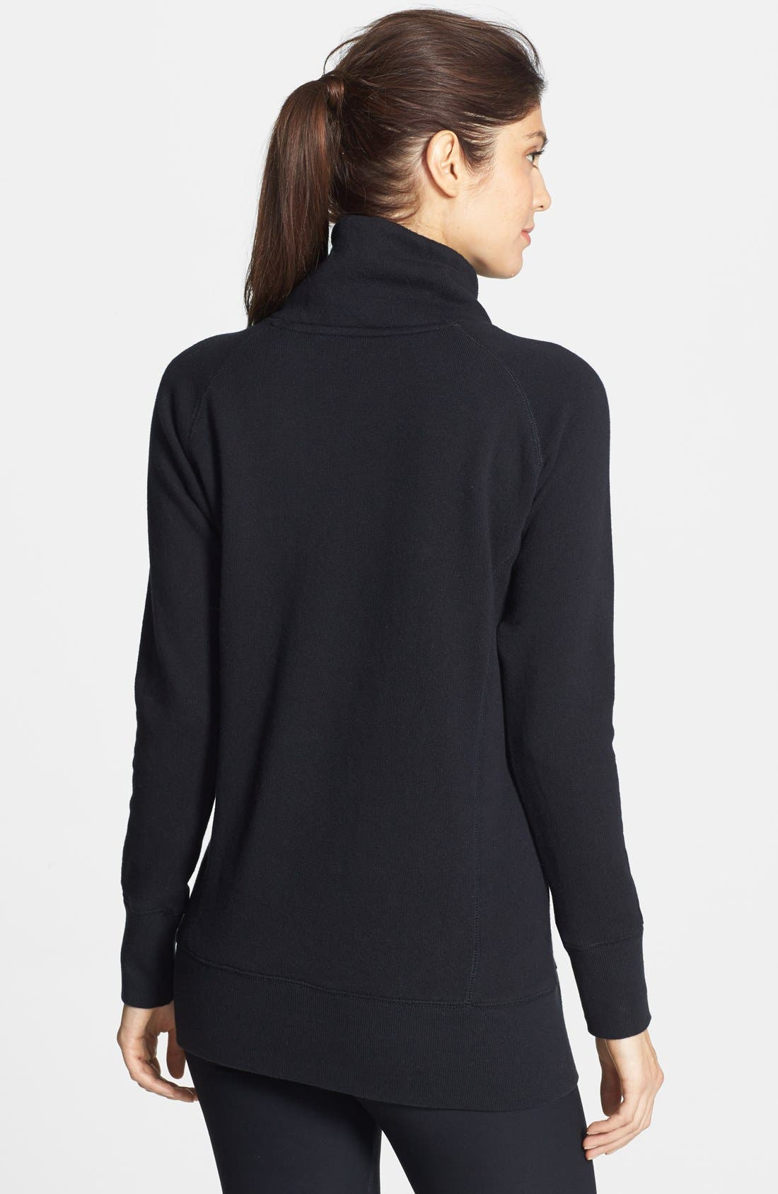 ALO, 'Canyon' Stand Collar Pullover, Alternate thumbnail 2, color, 001