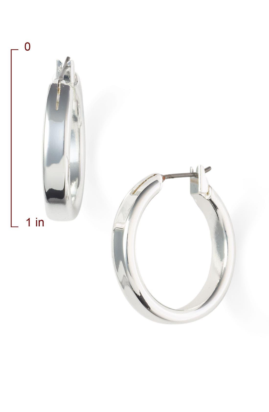 NORDSTROM, Medium Snap Post Hoop Earrings, Alternate thumbnail 2, color, 040