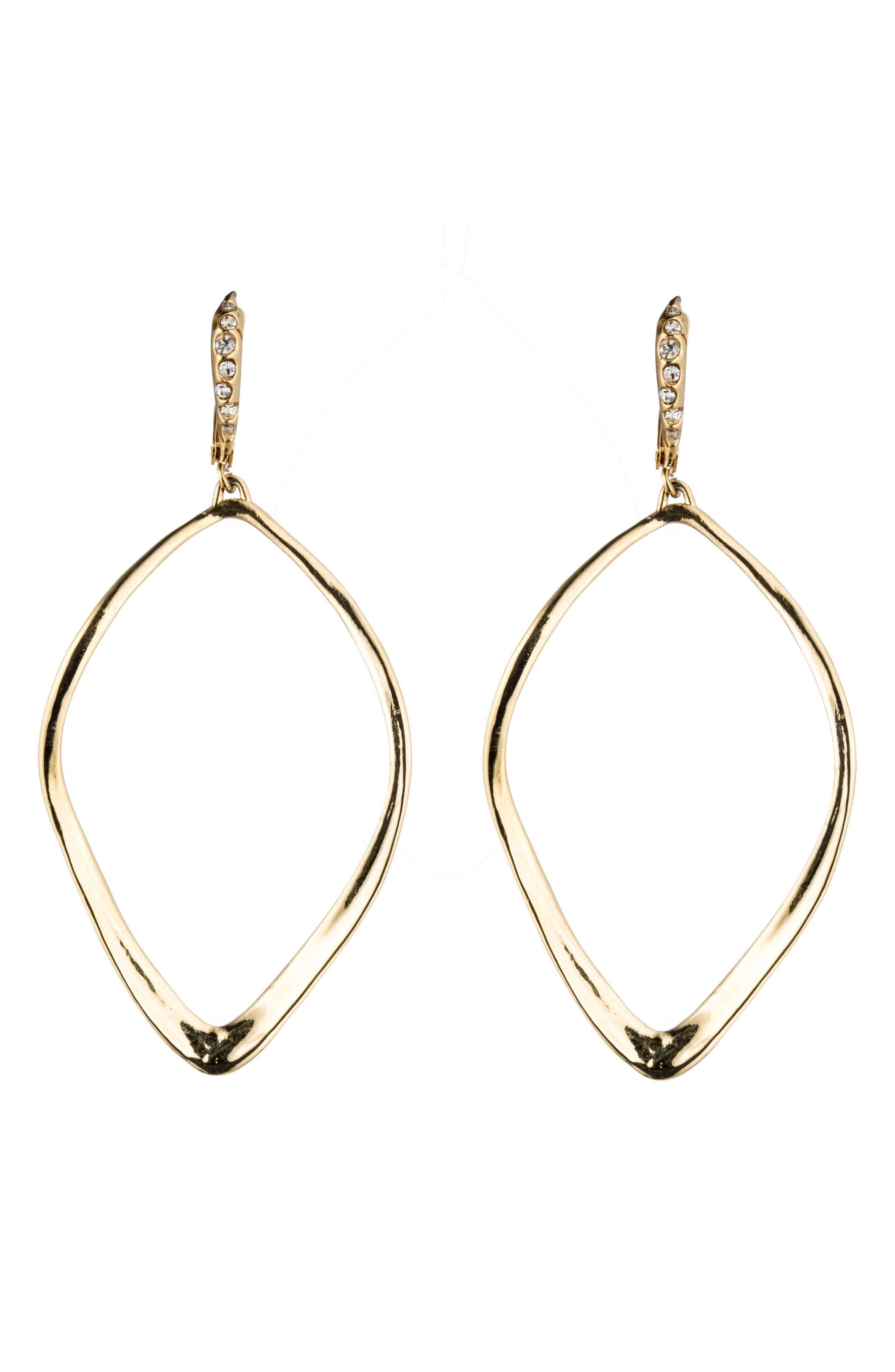 ALEXIS BITTAR 'Miss Havisham' Open Drop Earrings, Main, color, GOLD