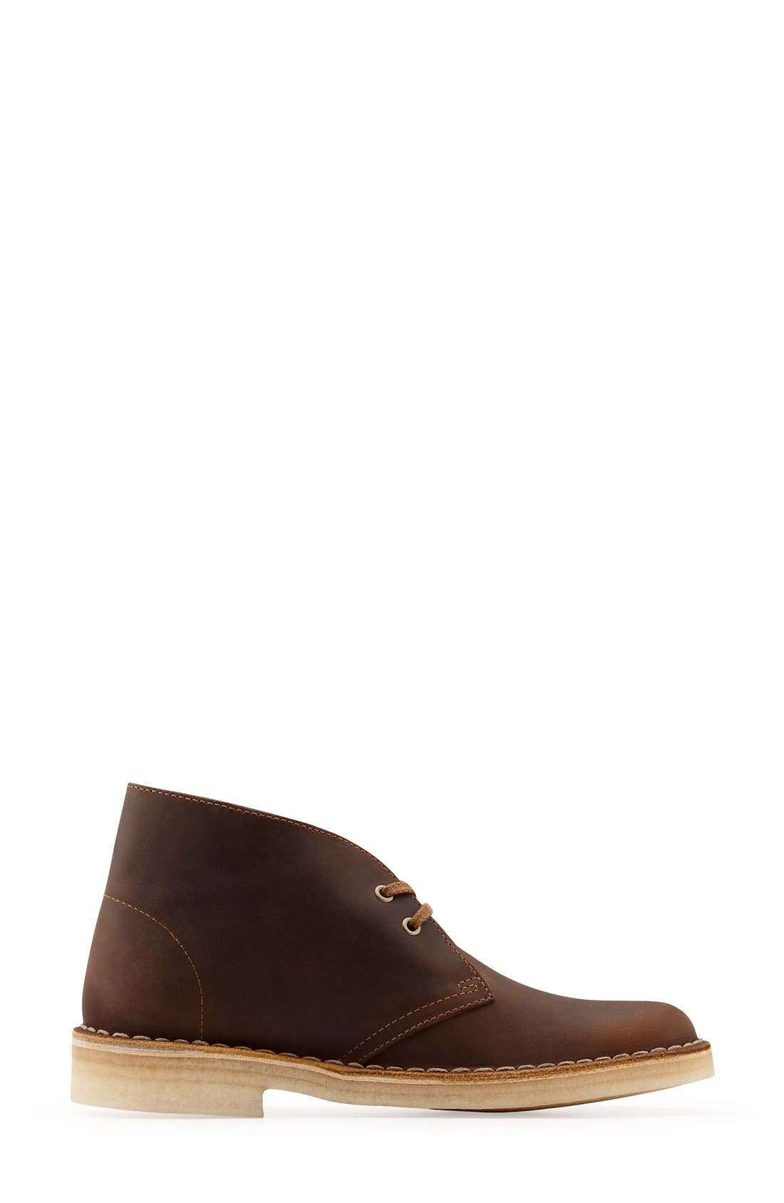 CLARKS<SUP>®</SUP>, Desert ChukkaBoot, Alternate thumbnail 2, color, BEESWAX LEATHER