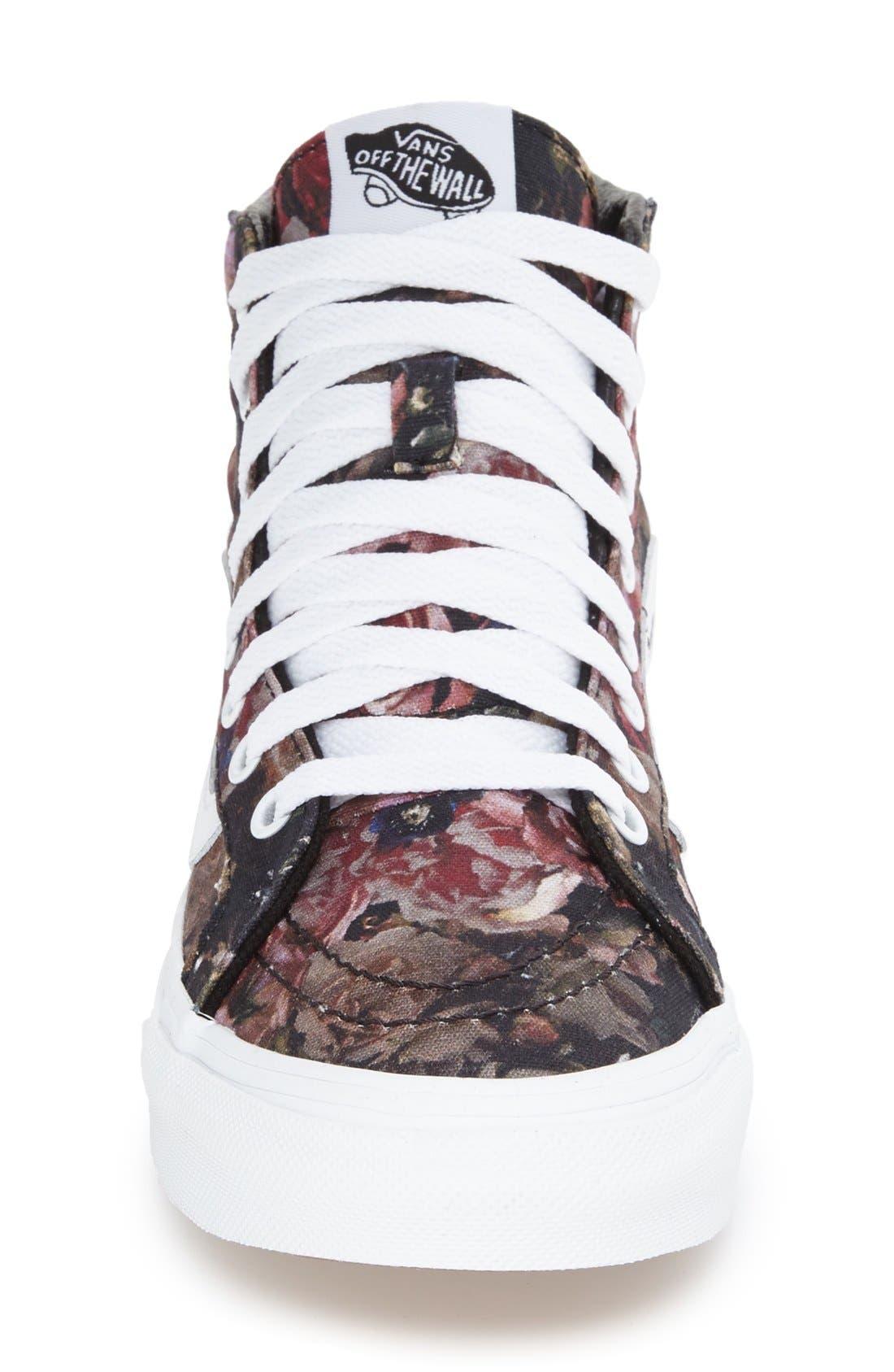 VANS, Sk-8 Hi Slim Sneaker, Alternate thumbnail 3, color, 001