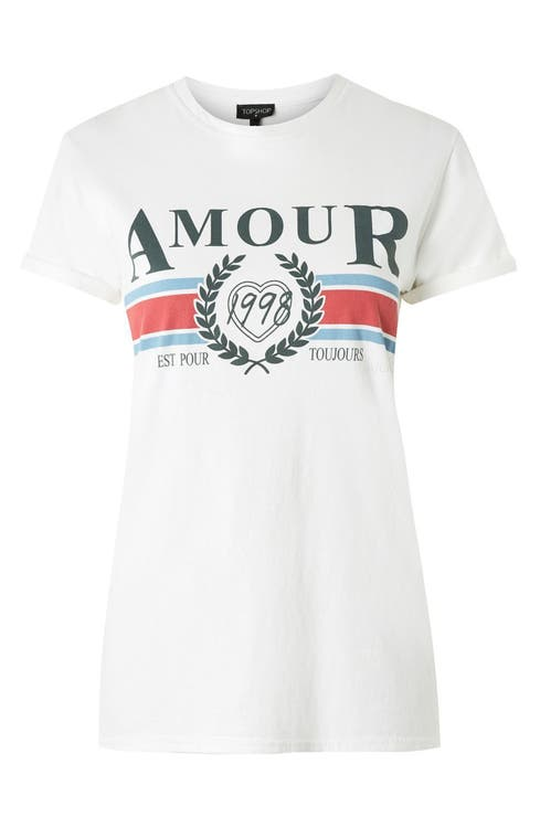 eb108a21501 Topshop Amour Graphic Tee