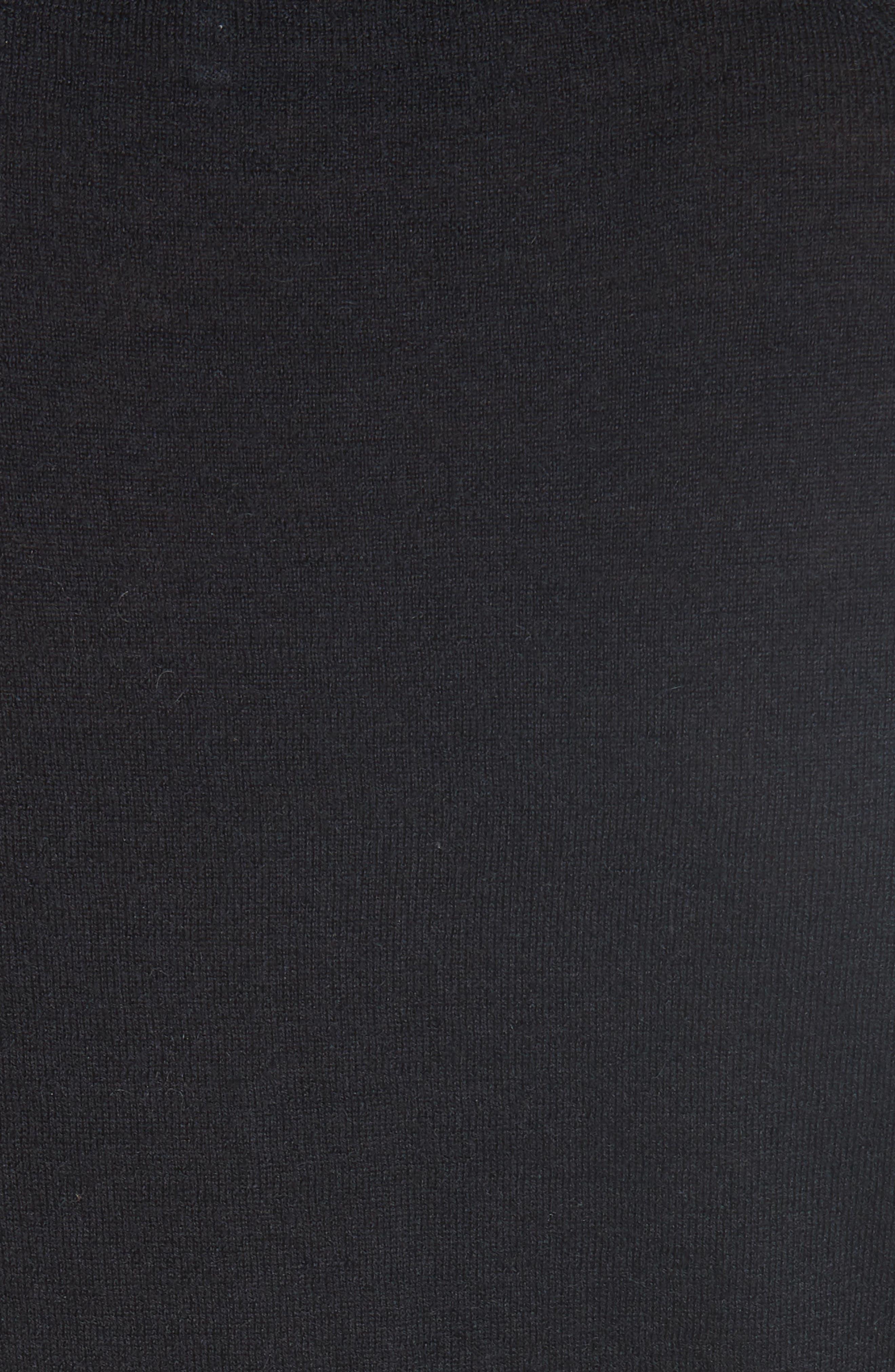 CO, Essentials Cashmere Sweater, Alternate thumbnail 5, color, BLACK