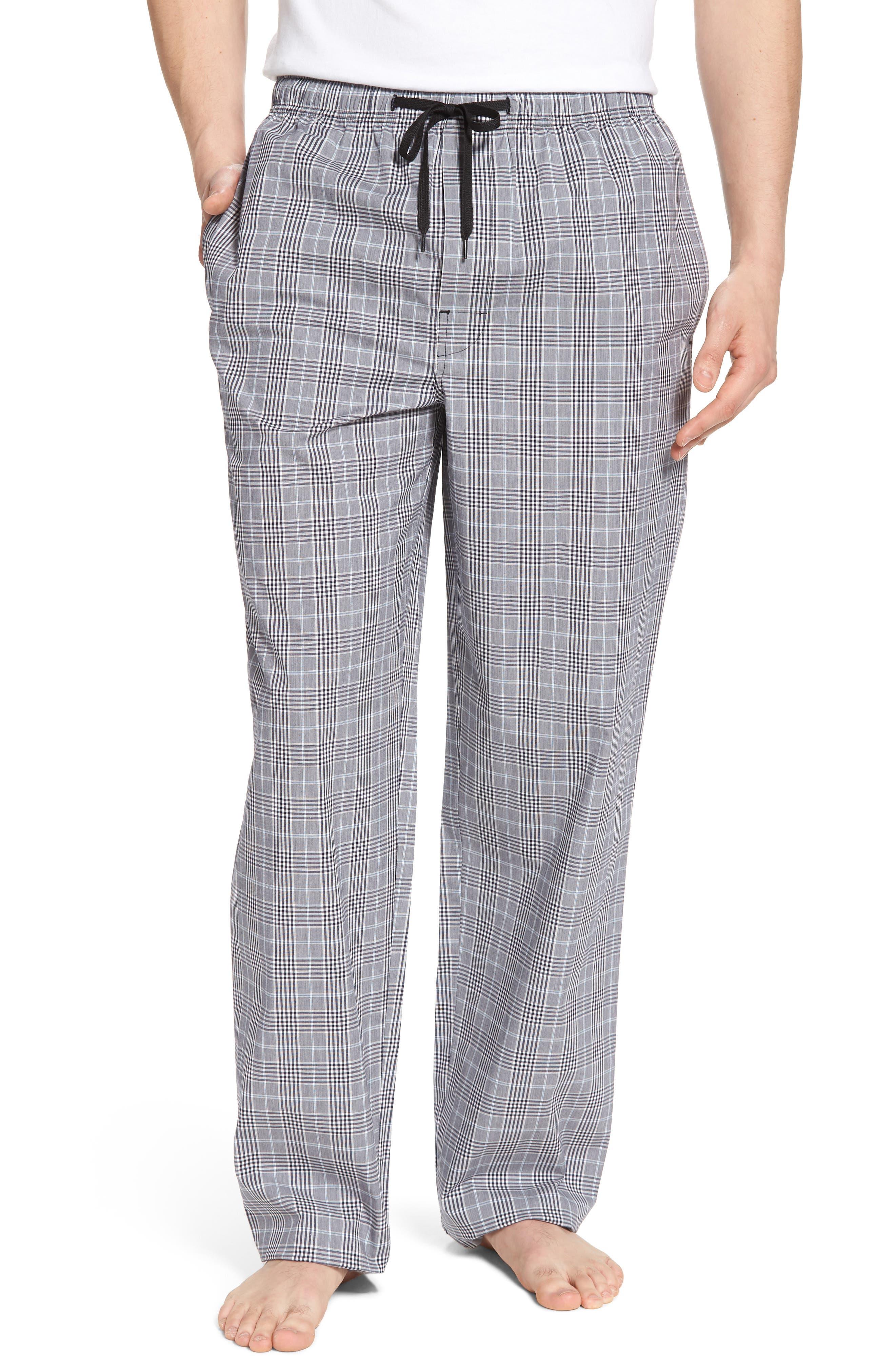 MAJESTIC INTERNATIONAL, Charleston Lounge Pants, Main thumbnail 1, color, BLACK PLAID